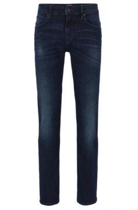 'Orange 63' | Slim Fit, 12 oz Stretch Cotton Jeans, Dark Blue
