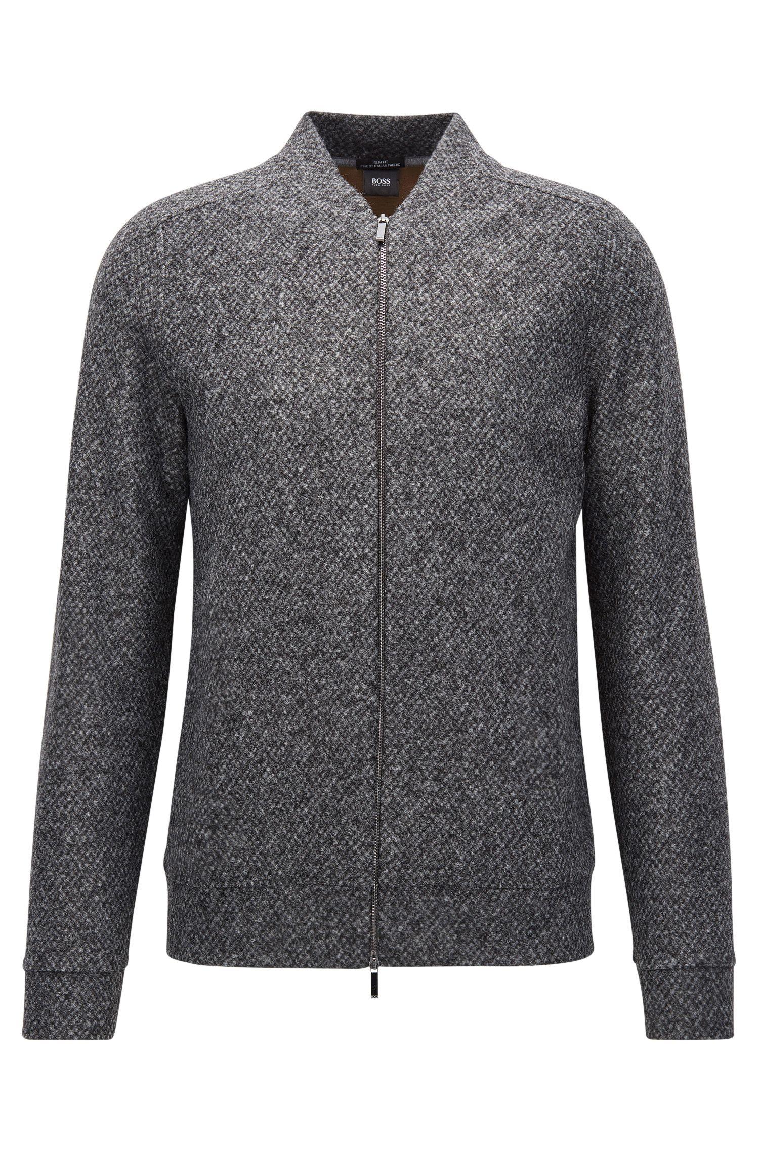 Oversized Argyle Stretch Virgin Wool Jacket | Salea
