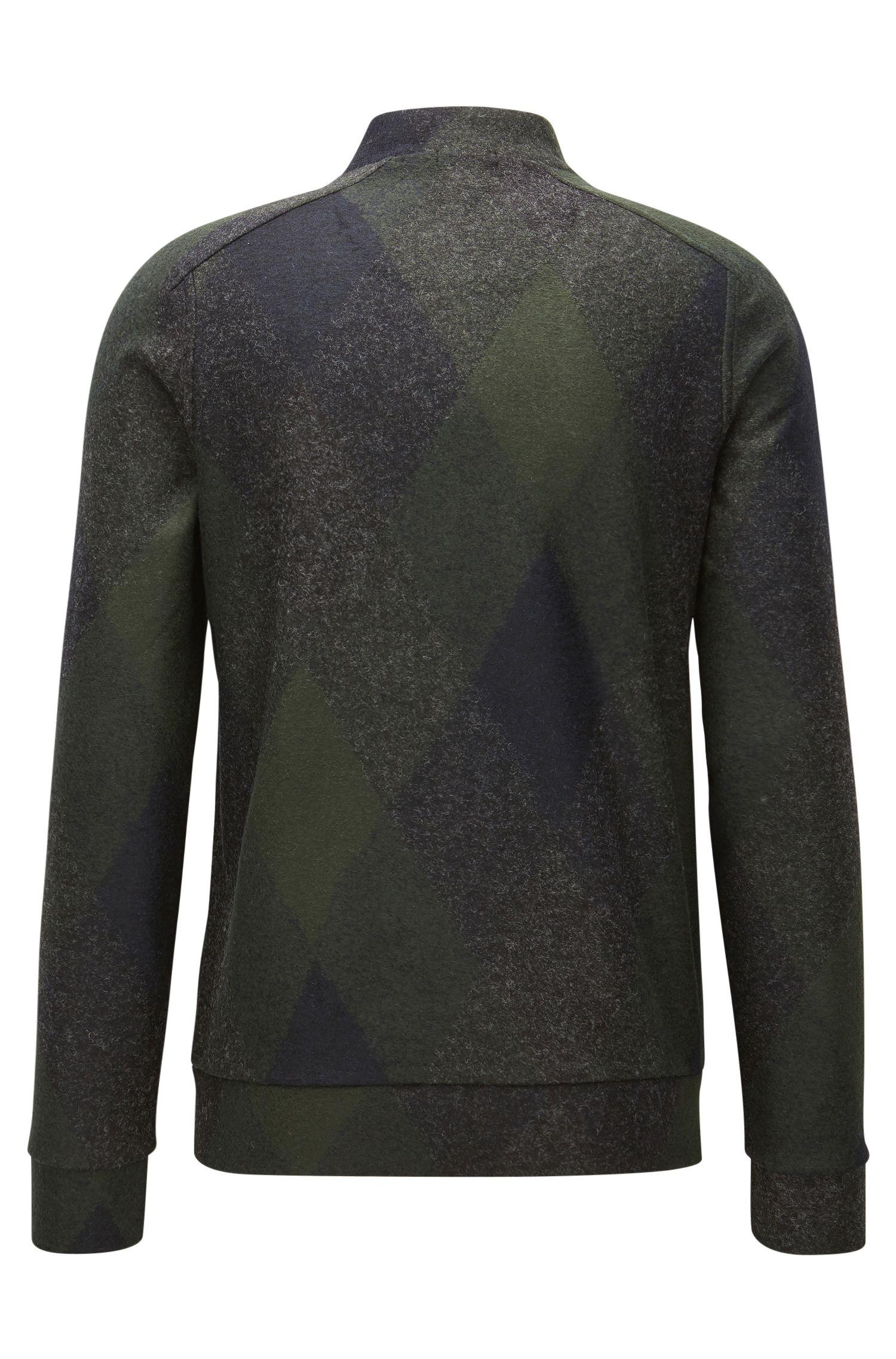 Italian Stretch Sweater Jacket | Salea, Open Grey