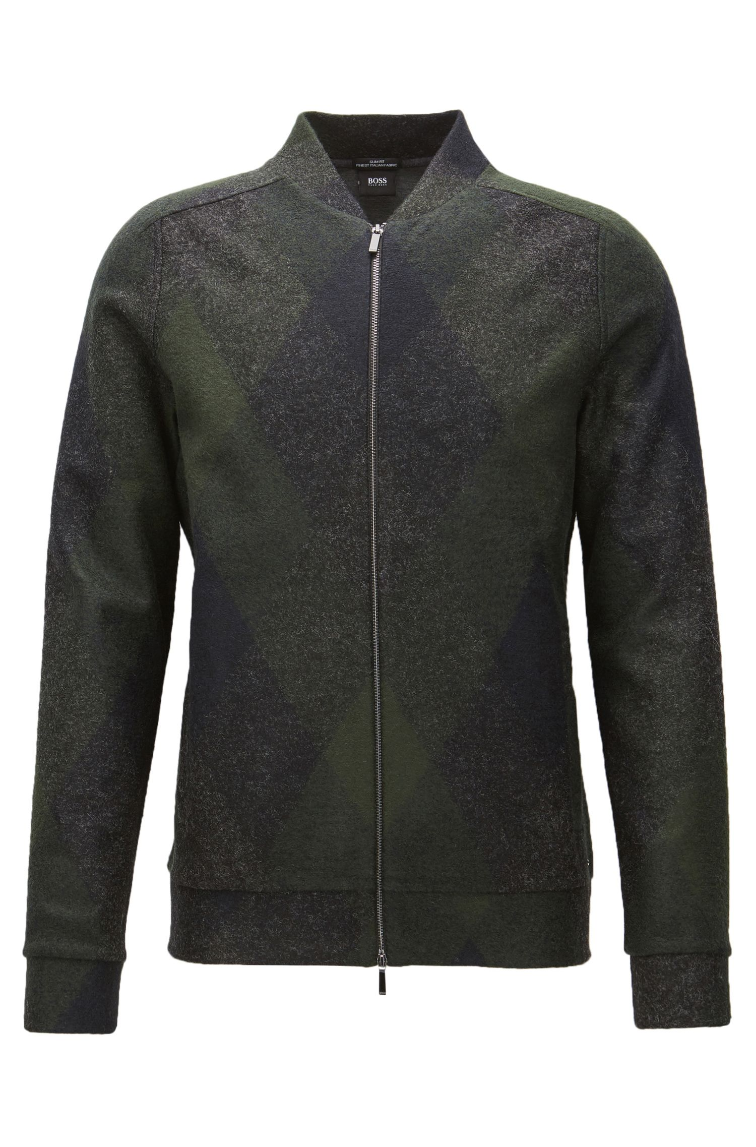 Italian Stretch Sweater Jacket | Salea