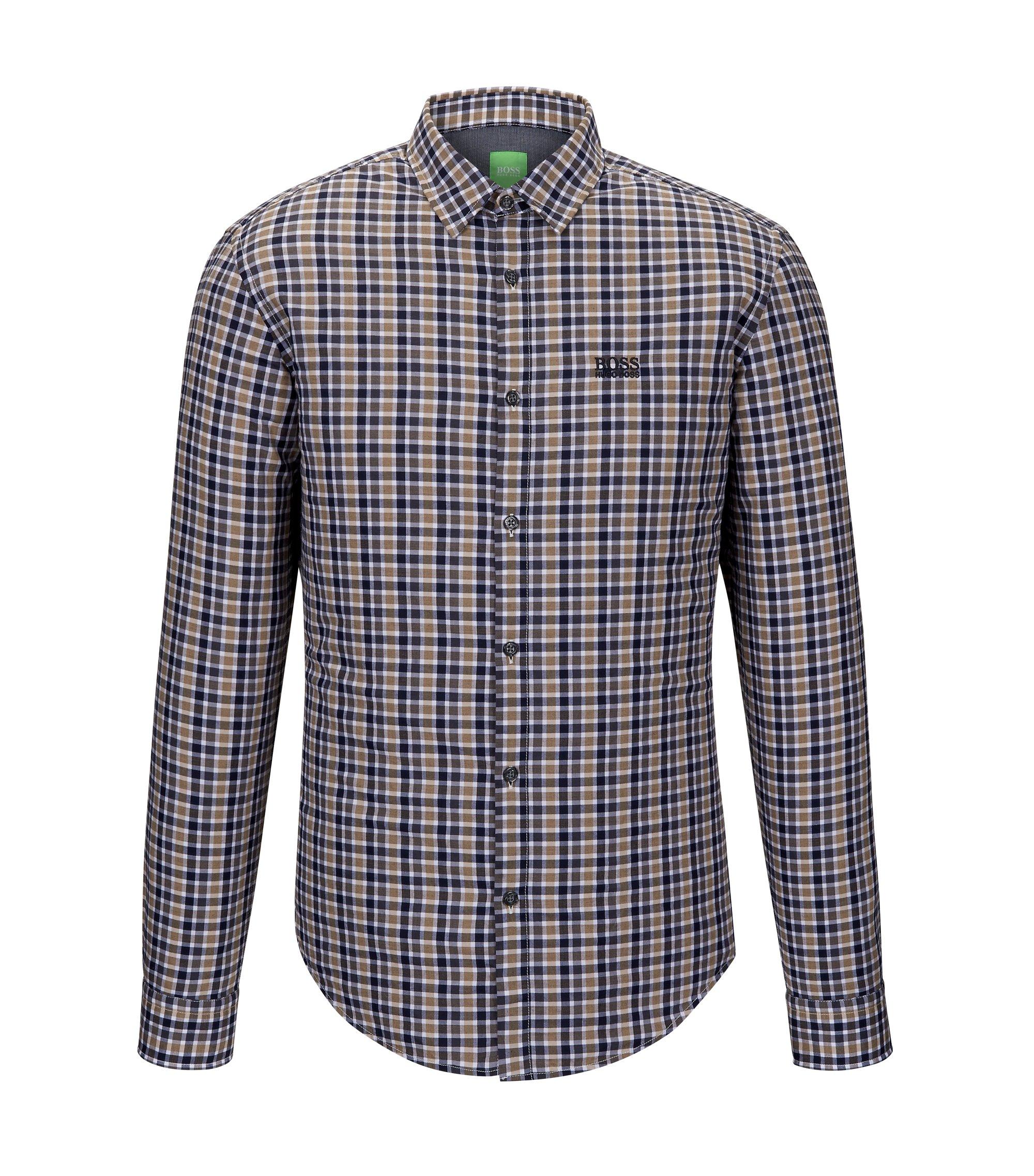 Cotton Button Down Shirt, Regular Fit | C-Buster, Beige