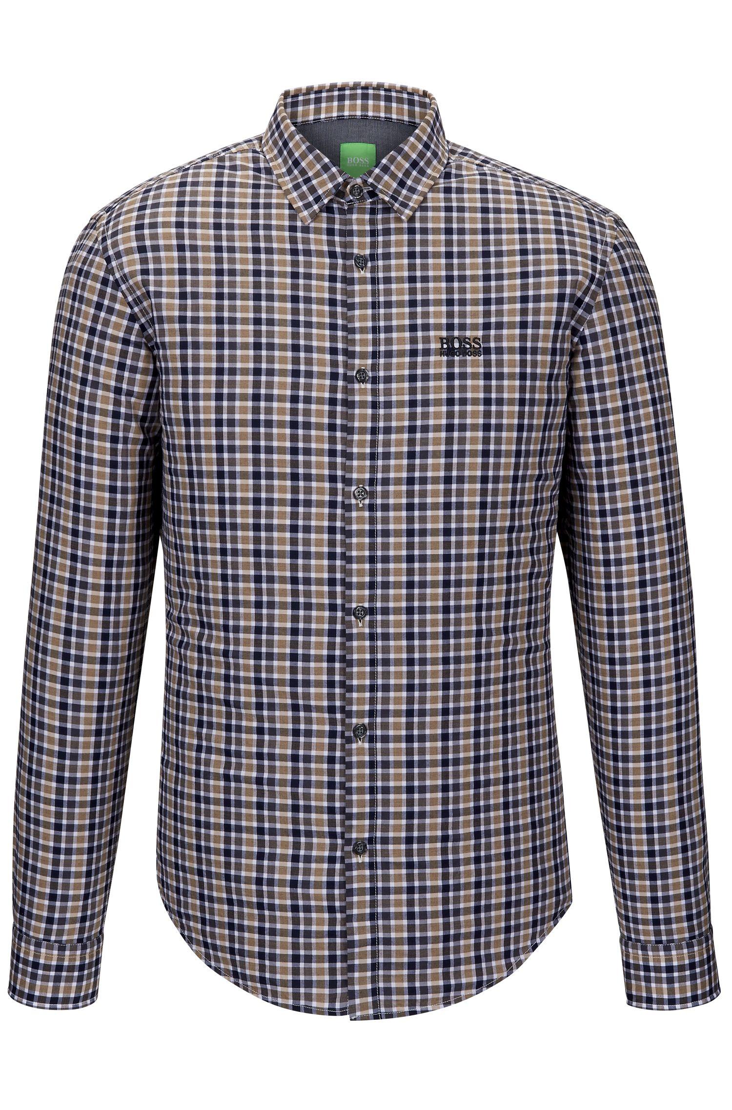 Cotton Button Down Shirt, Regular Fit | C-Buster