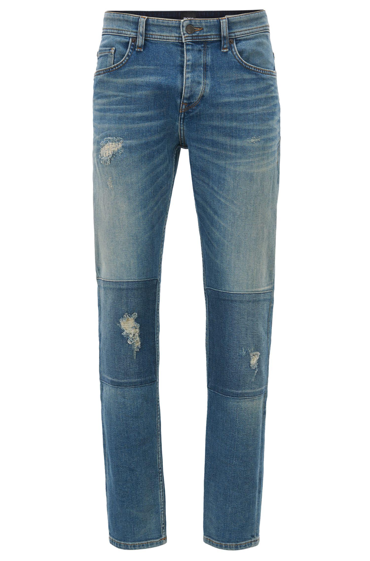 Stretch Cotton Jean, Tapered Fit | Orange 90