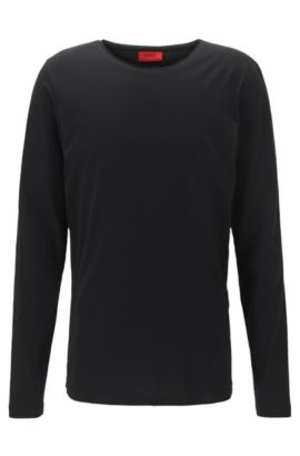 Cotton Jersey T-Shirt | Doopso, Black