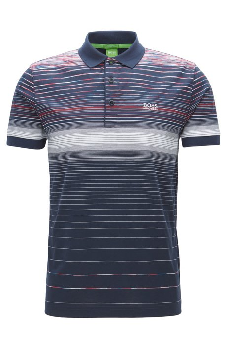 9cee31fd BOSS - Striped Cotton Polo Shirt, Regular Fit | Paddy