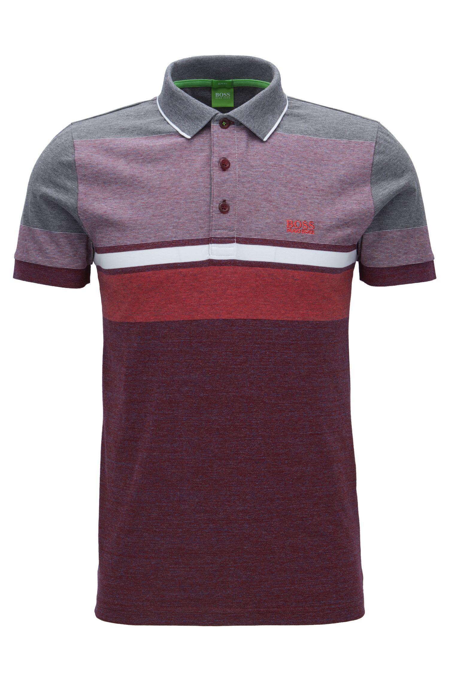 Striped Cotton Polo Shirt, Slim Fit | Paule