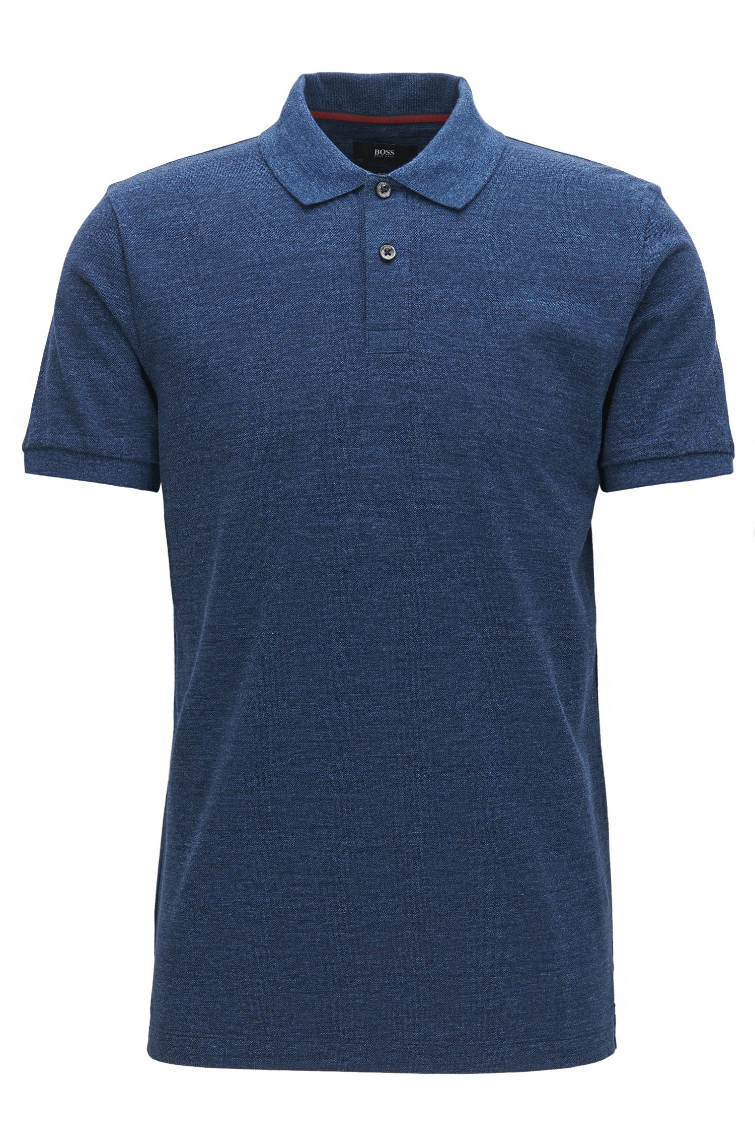 Heathered Cotton Polo Shirt, Slim Fit | Phillipson