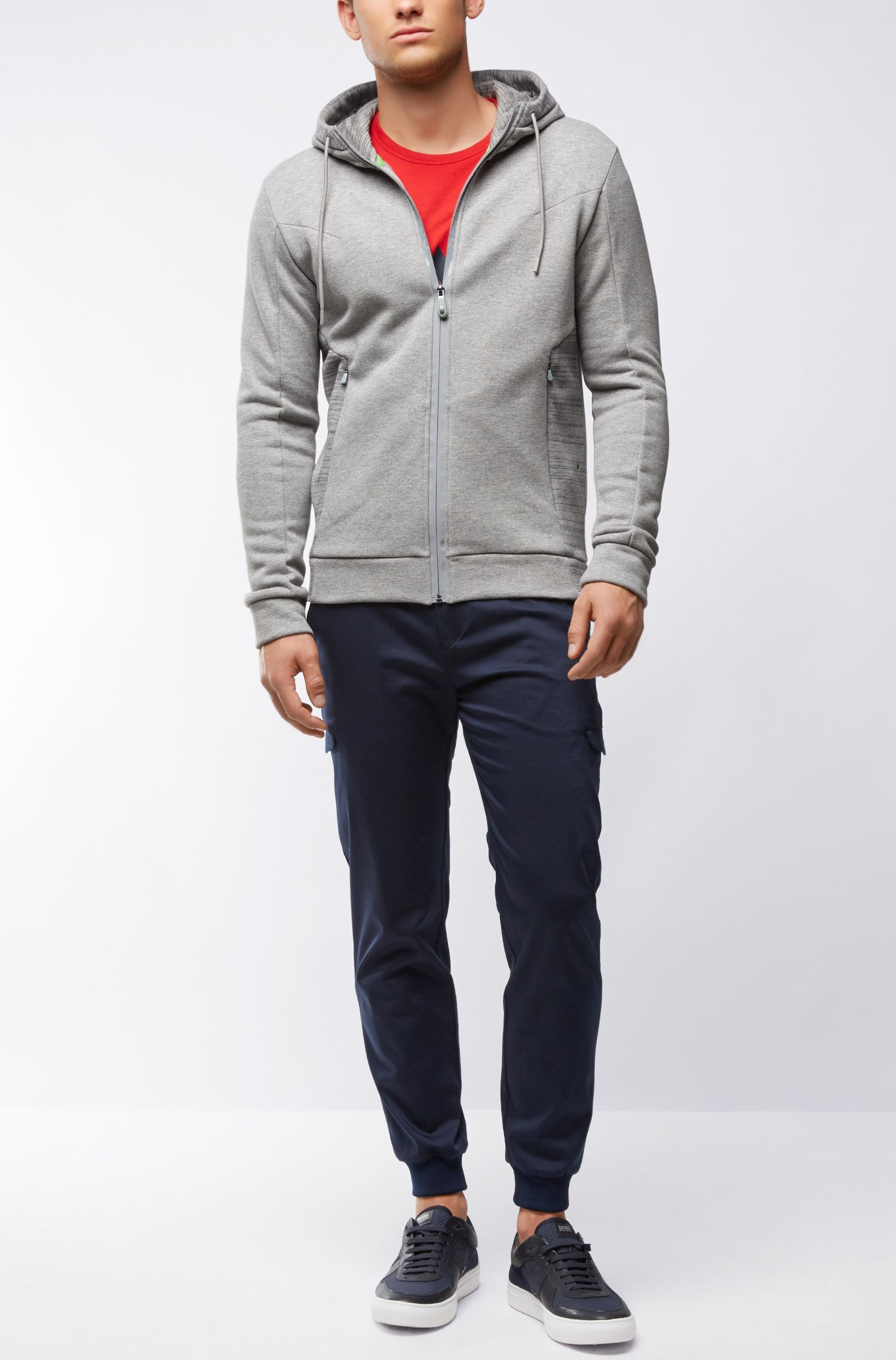 Stretch Cotton Hoodie | Selwyn