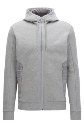 Stretch Cotton Hoodie | Selwyn, Light Grey