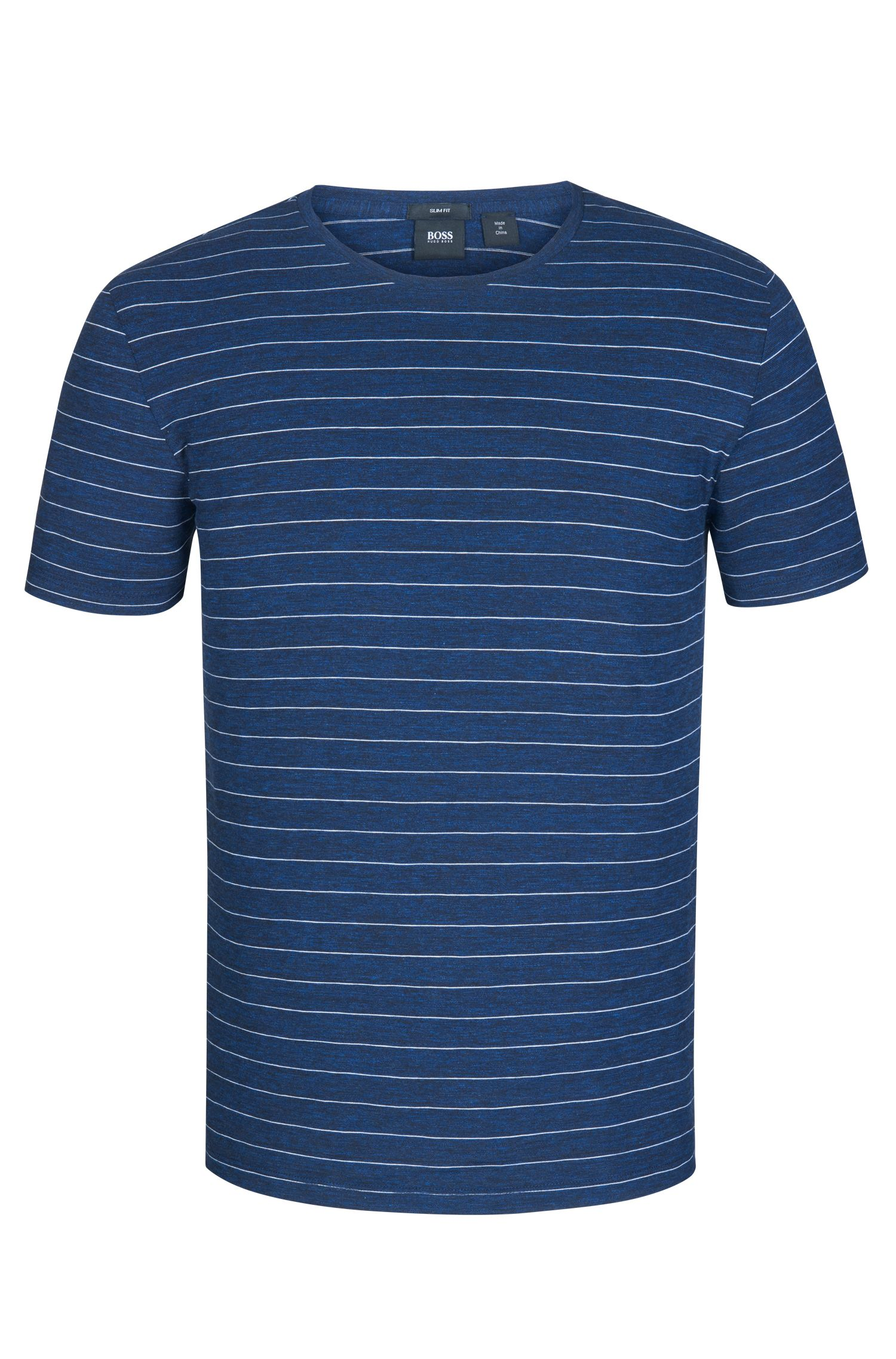 Striped Cotton T-Shirt | Tessler, Dark Blue