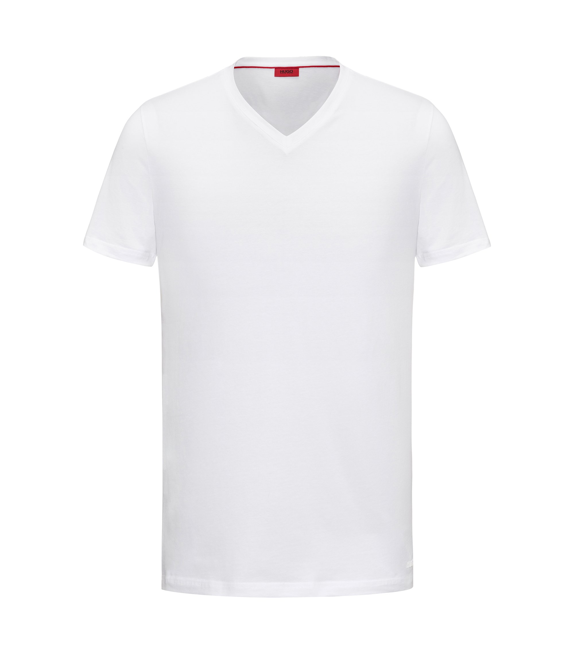 Stretch Cotton Jersey T-Shirt | Dandre, White