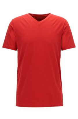 Stretch Cotton Jersey T-Shirt | Dandre, Red