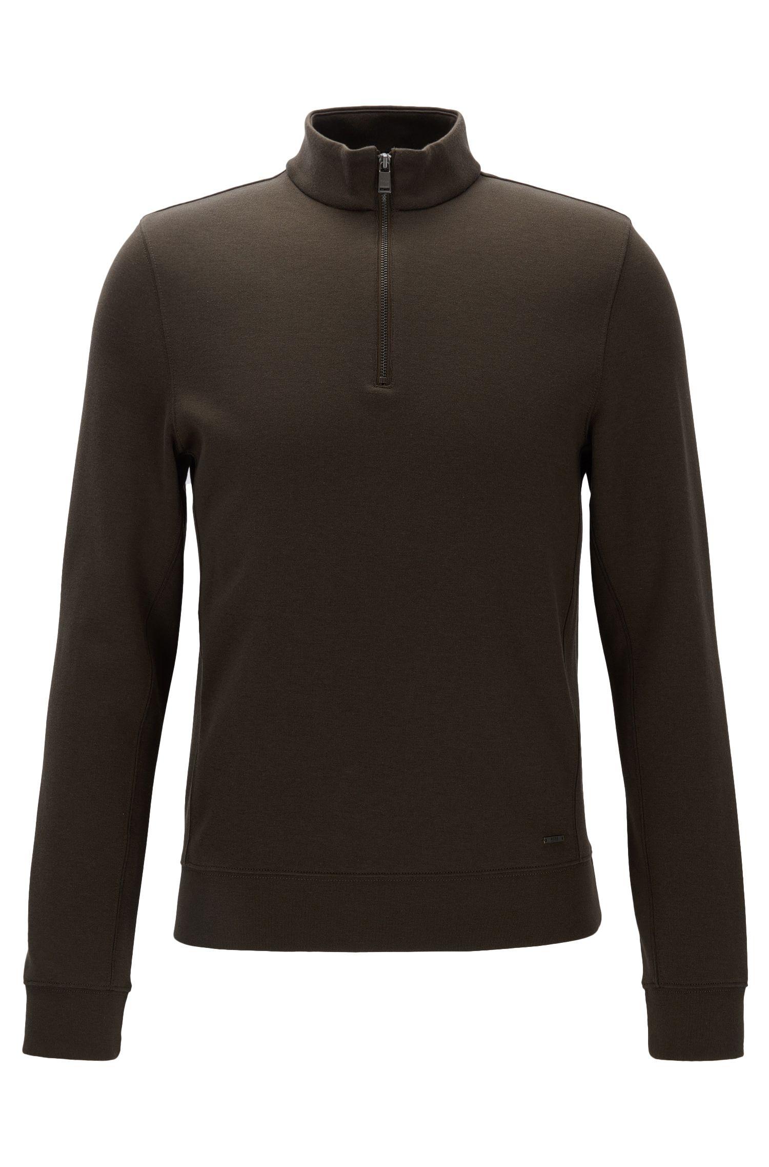 Stretch Cotton Half-Zip Sweater | Siegal