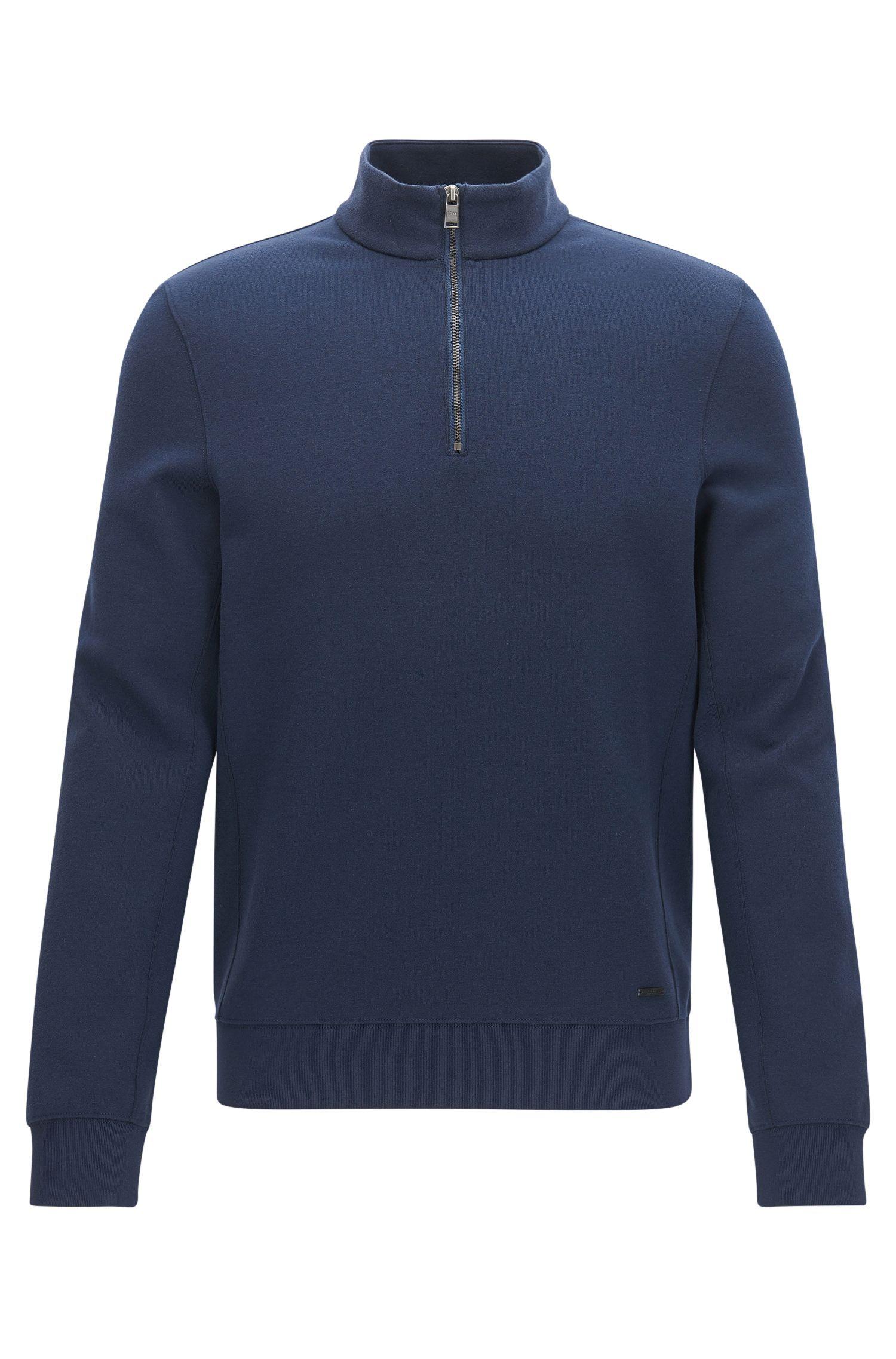Stretch Cotton Half-Zip Sweater   Siegal