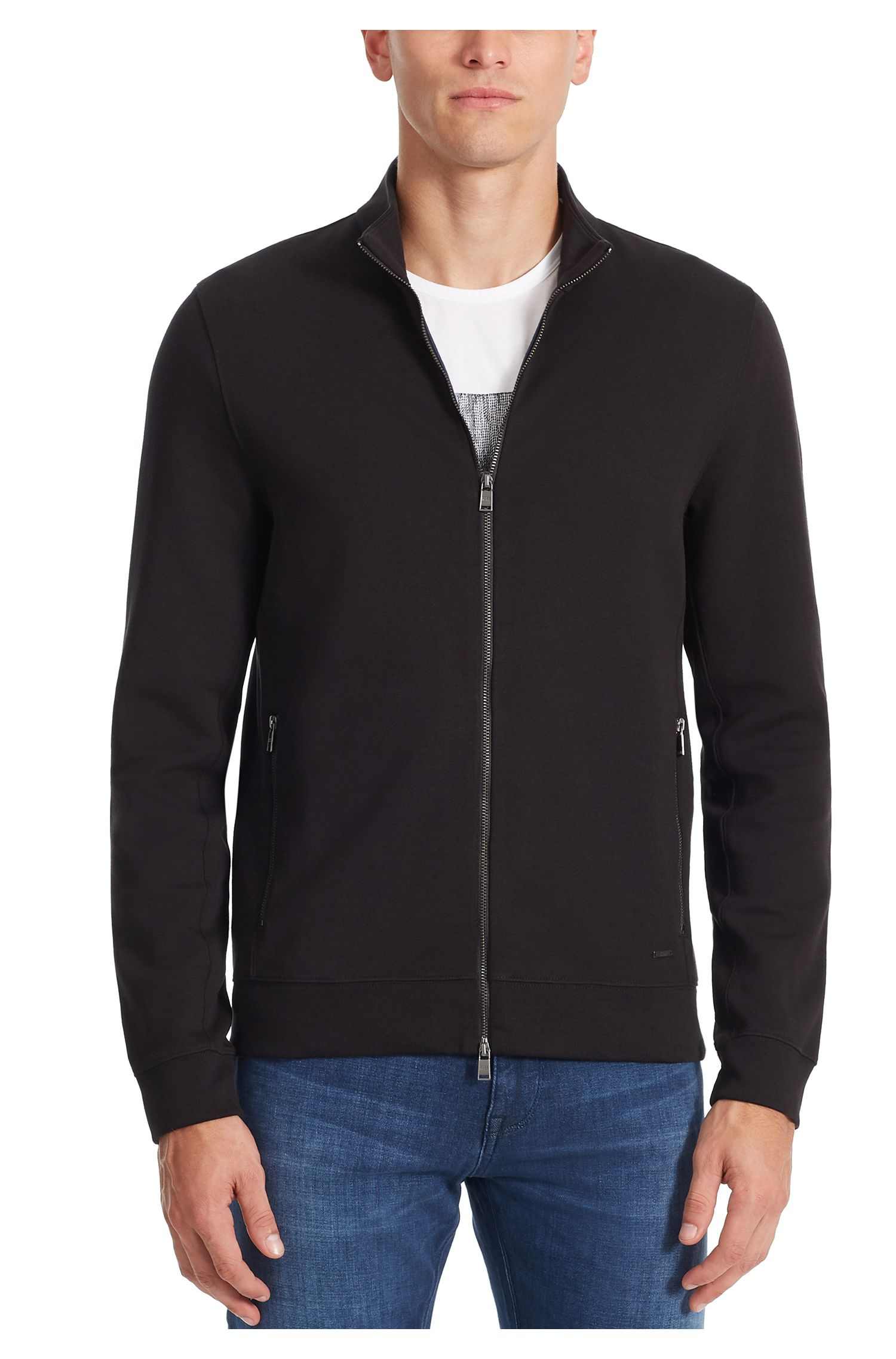 Stretch Cotton Sweater Jacket | Soule