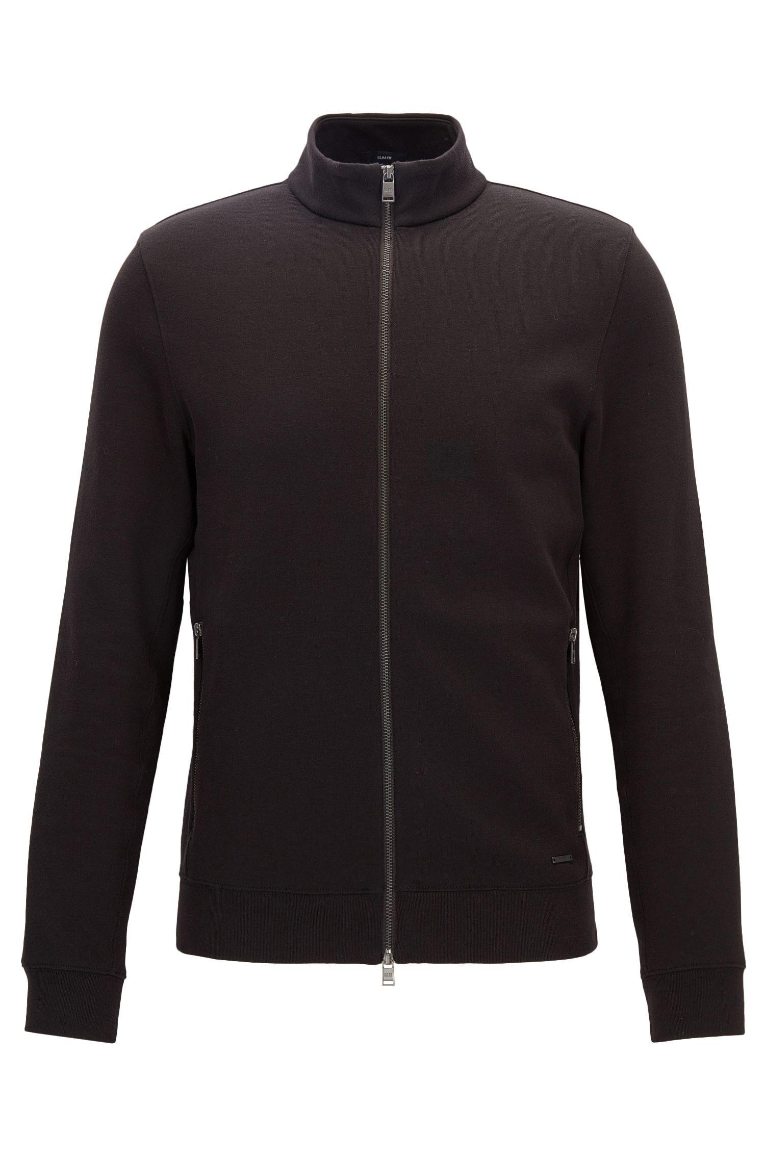 'Soule'   Stretch Cotton Nylon Zip Sweat Jacket