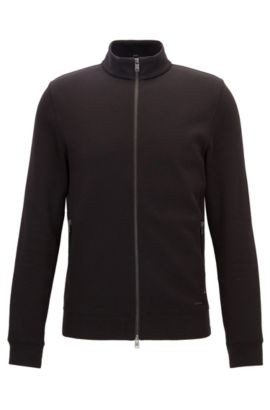 Stretch Cotton Sweater Jacket | Soule, Black