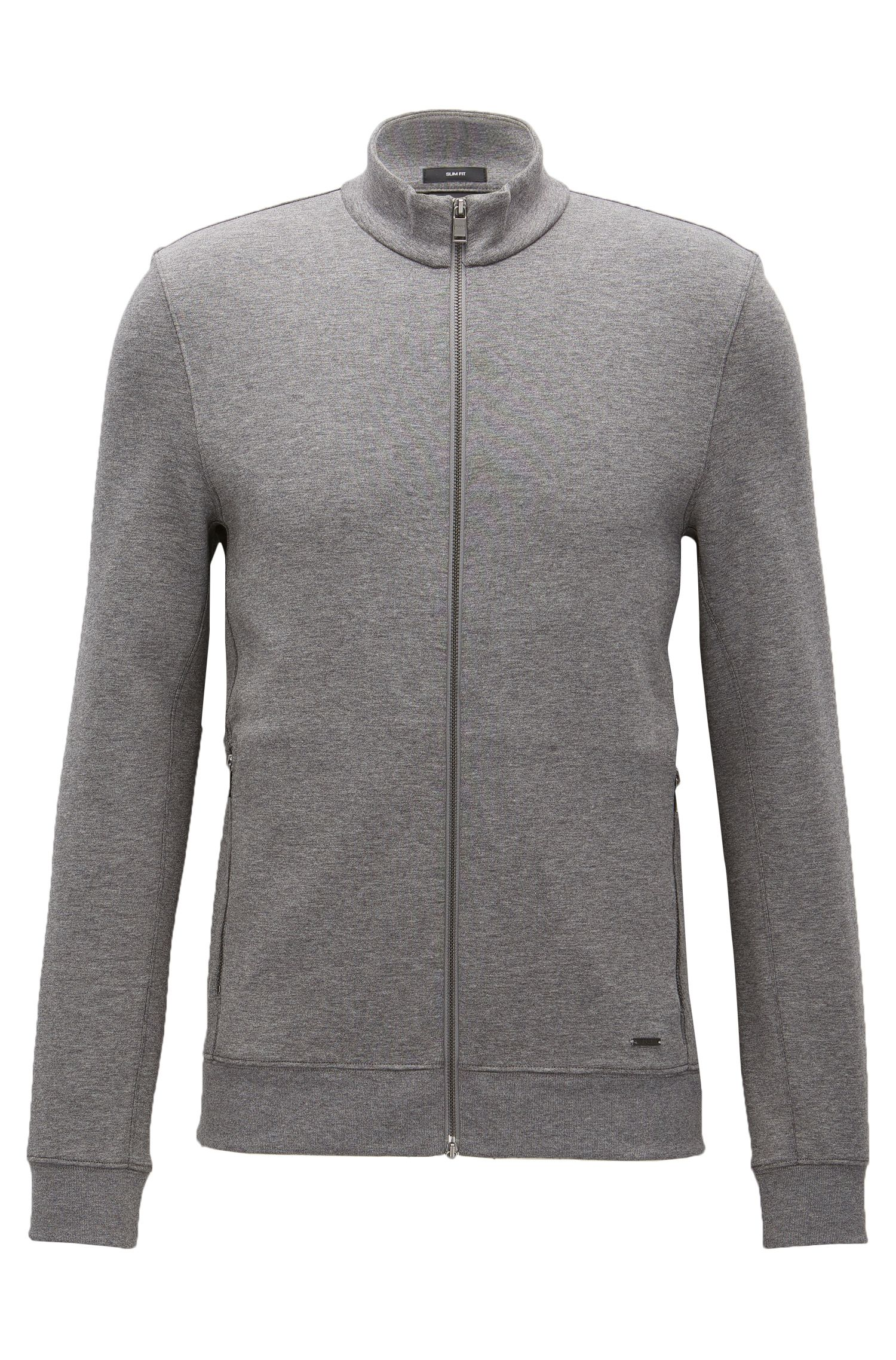 'Soule' | Stretch Cotton Nylon Zip Sweat Jacket