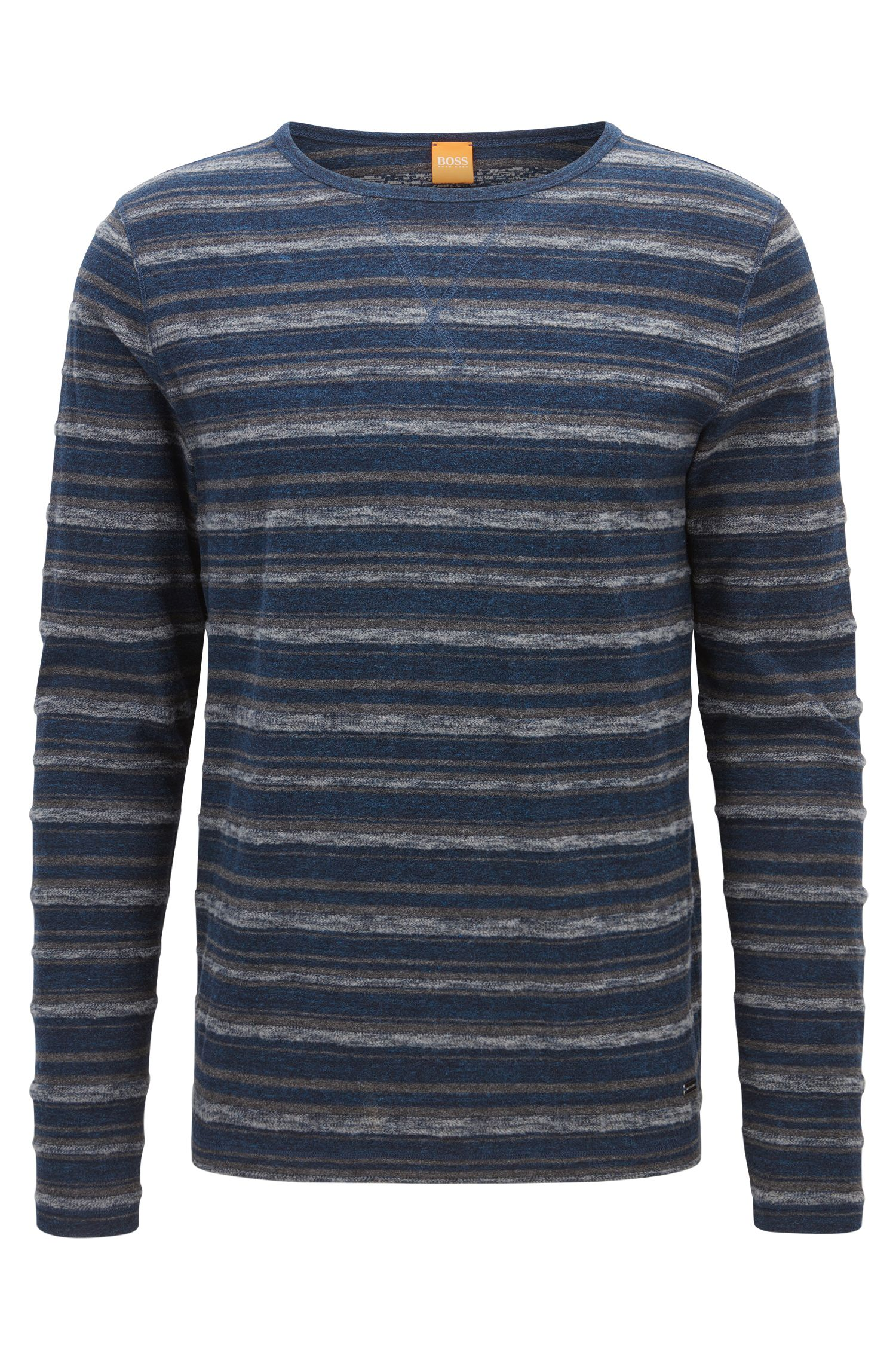 Striped Stretch Cotton T-Shirt | Twinkle