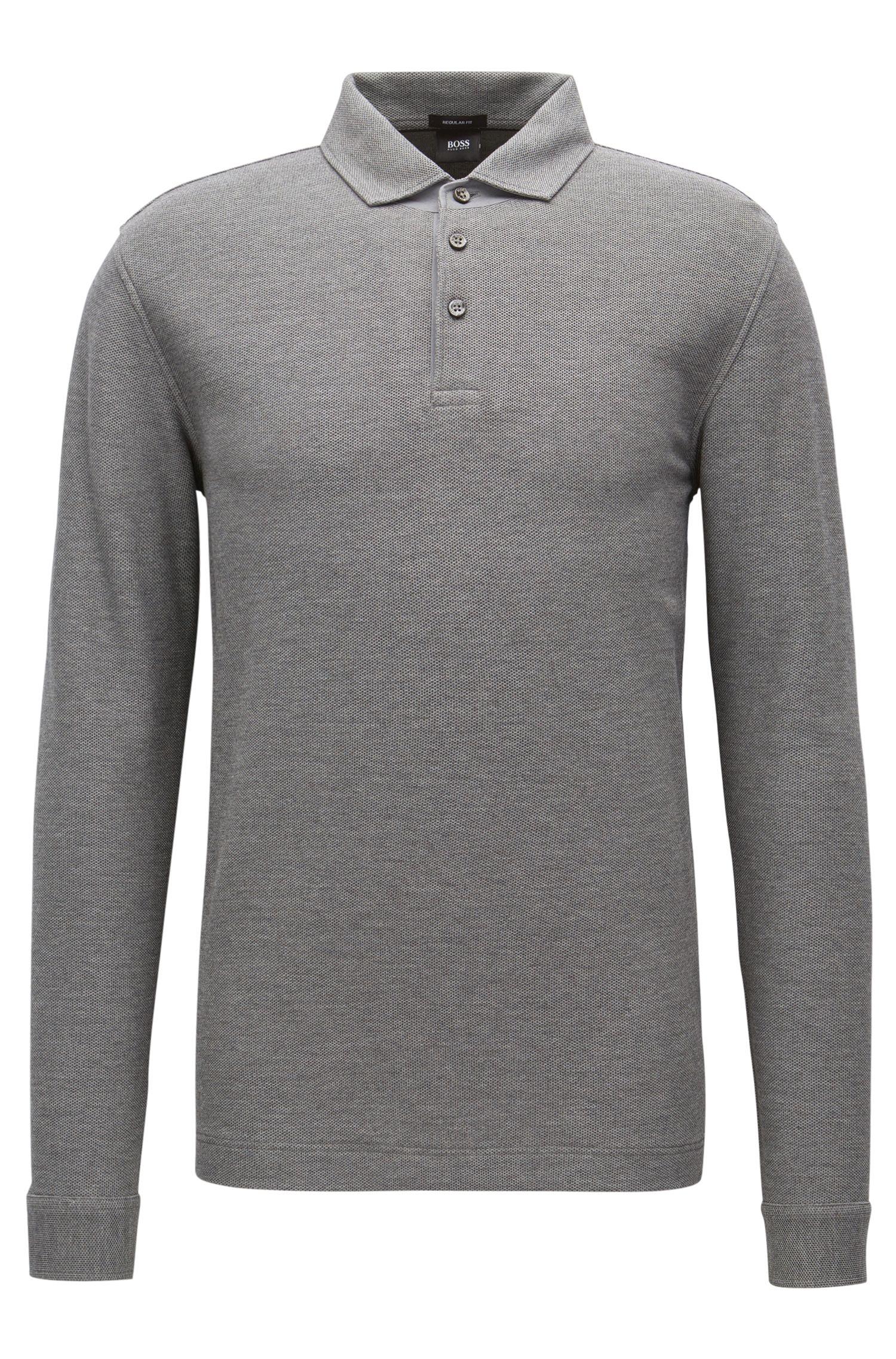Piqué Cotton Polo Shirt, Regular Fit | Pickell, Grey
