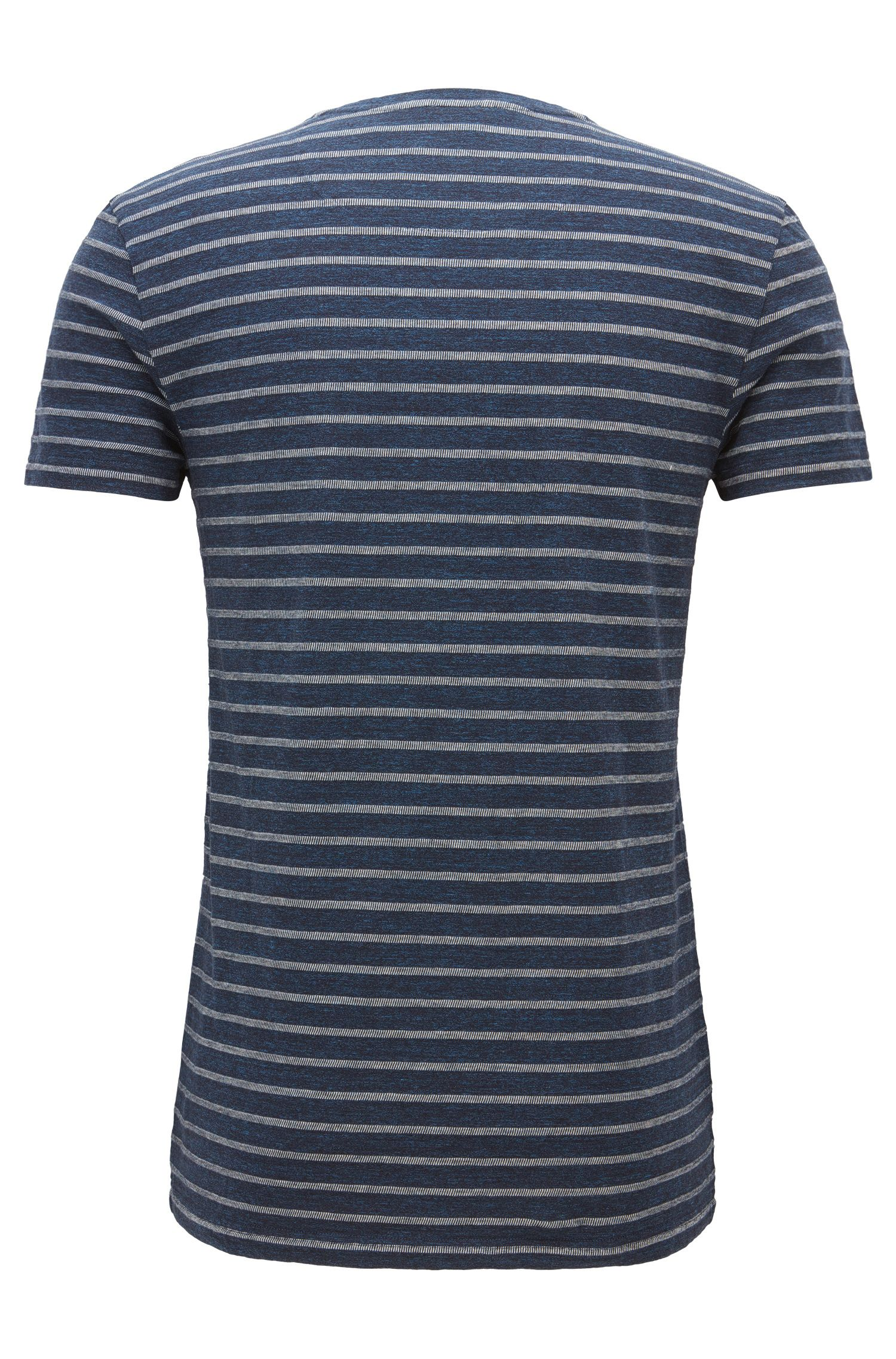 'Tramway' | Striped Cotton Jersey T-Shirt, Dark Blue