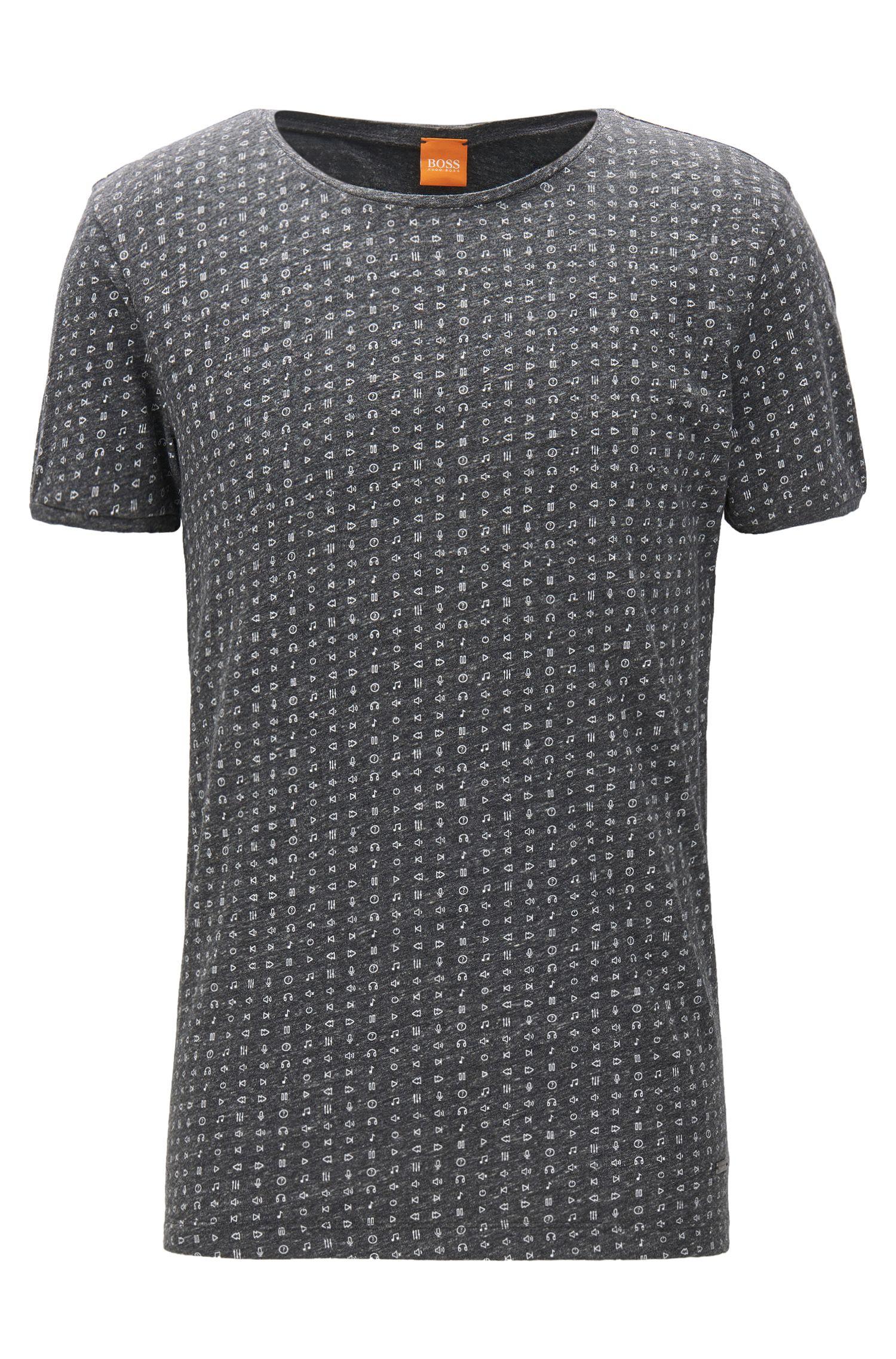 Heather Cotton Jersey T-Shirt   Touching