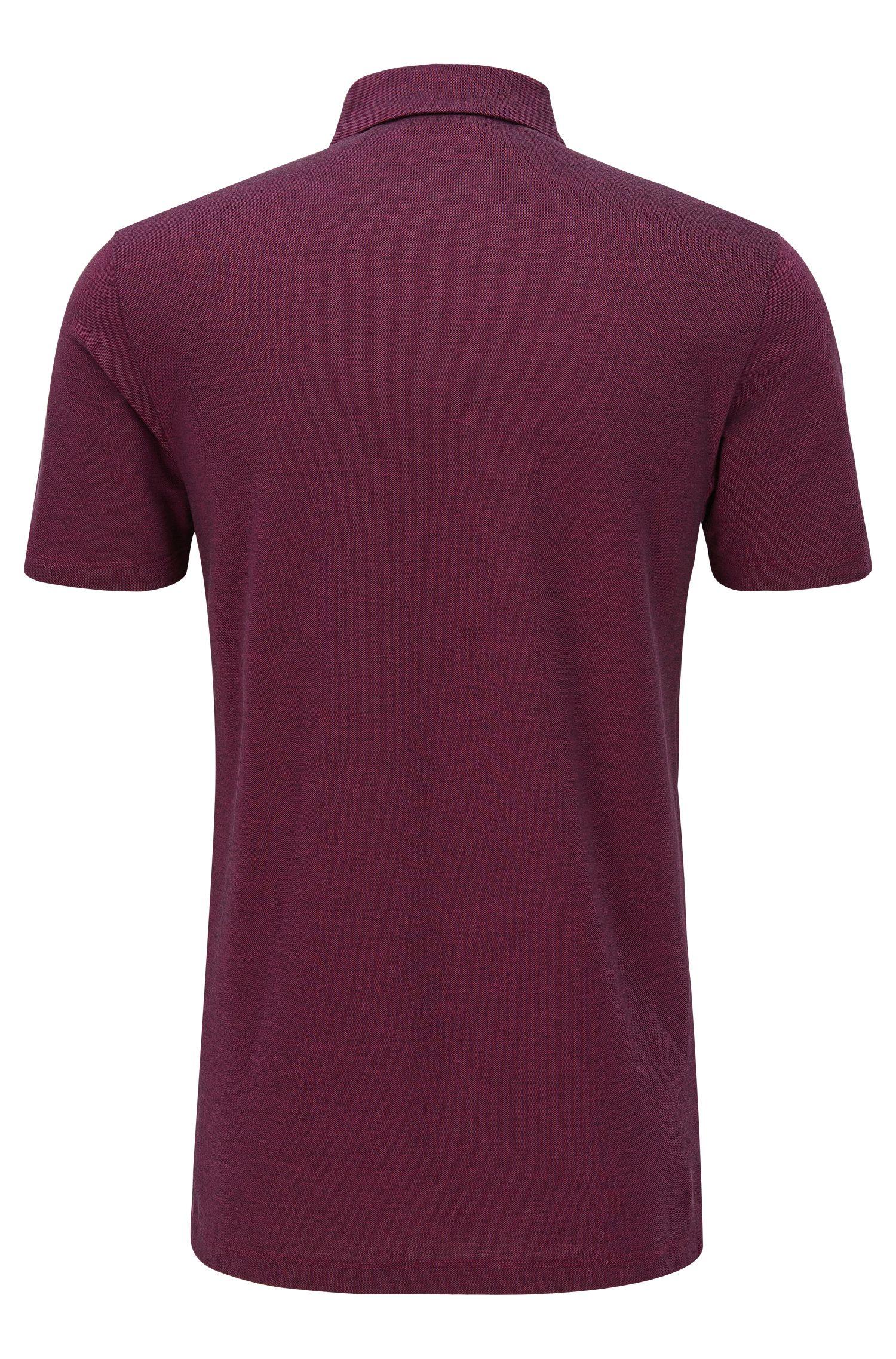 Piqué Cotton Polo Shirt, Slim Fit | Deffries
