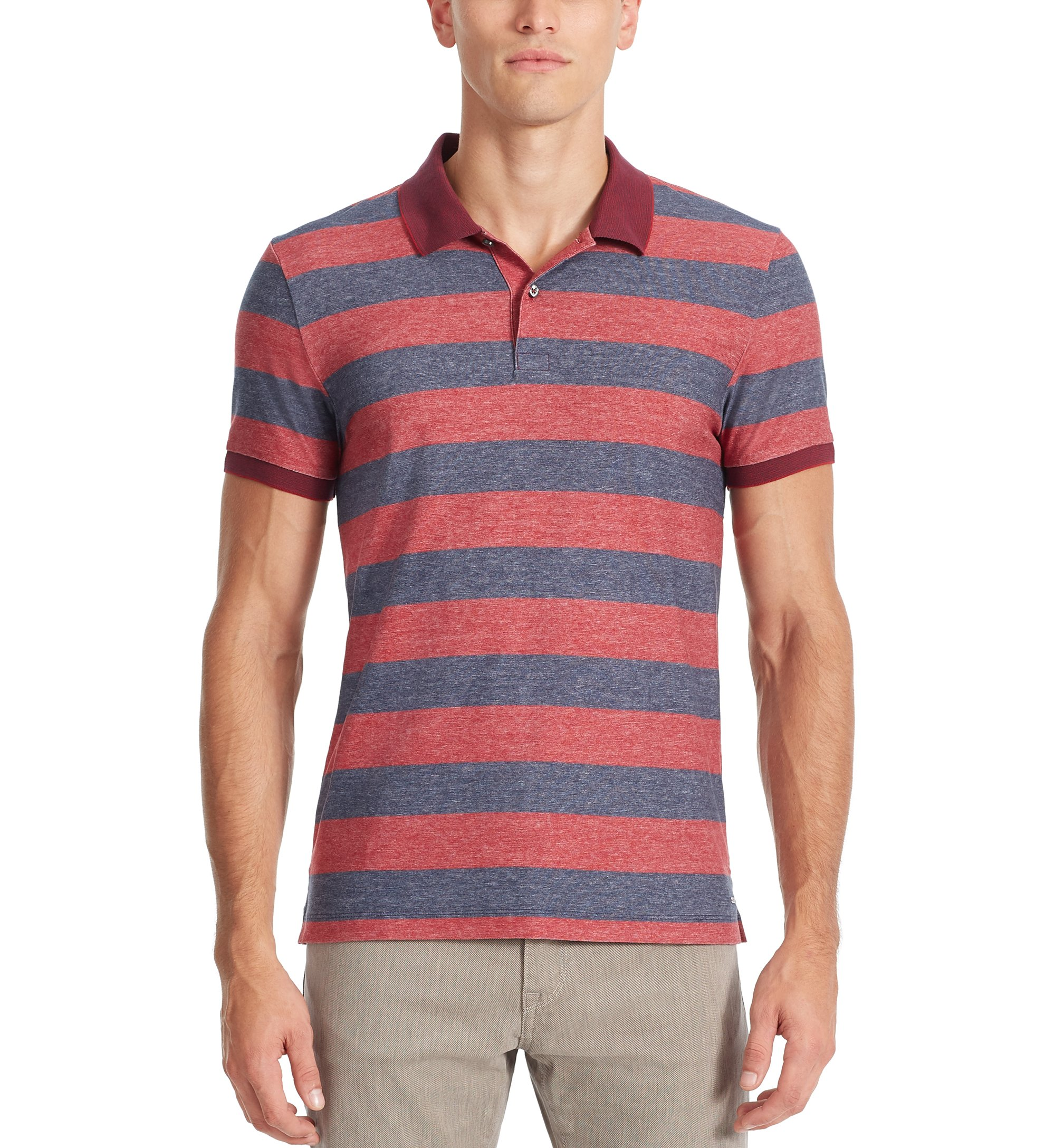 Cotton Polo Shirt, Slim Fit | Phillipson, Red