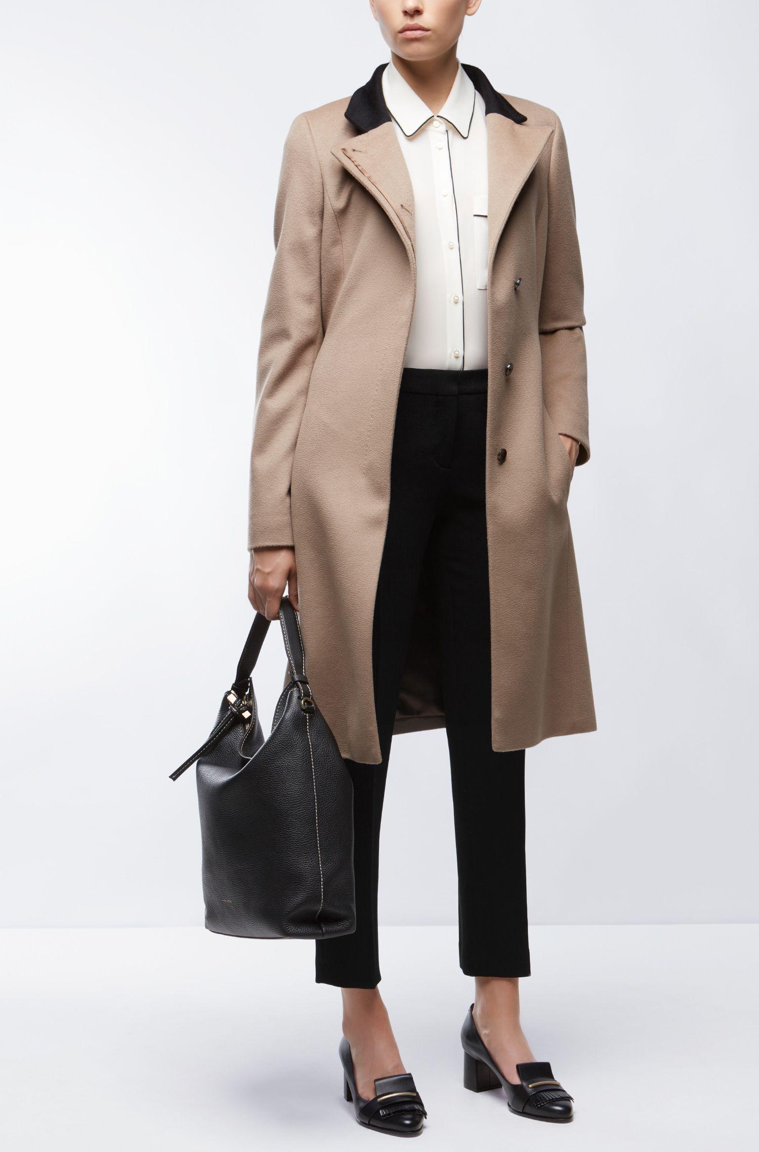 Crepe Cropped Suiting Pant | Tanitea, Black