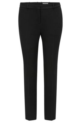 'Tanitea' | Crepe Cropped Suiting Pants, Black