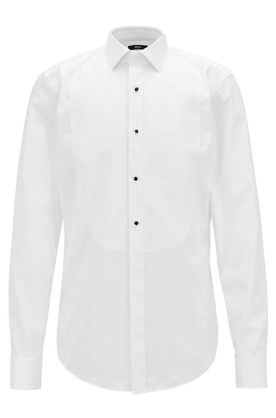 Boss easy iron tuxedo shirt jant for Best slim fit tuxedo shirt