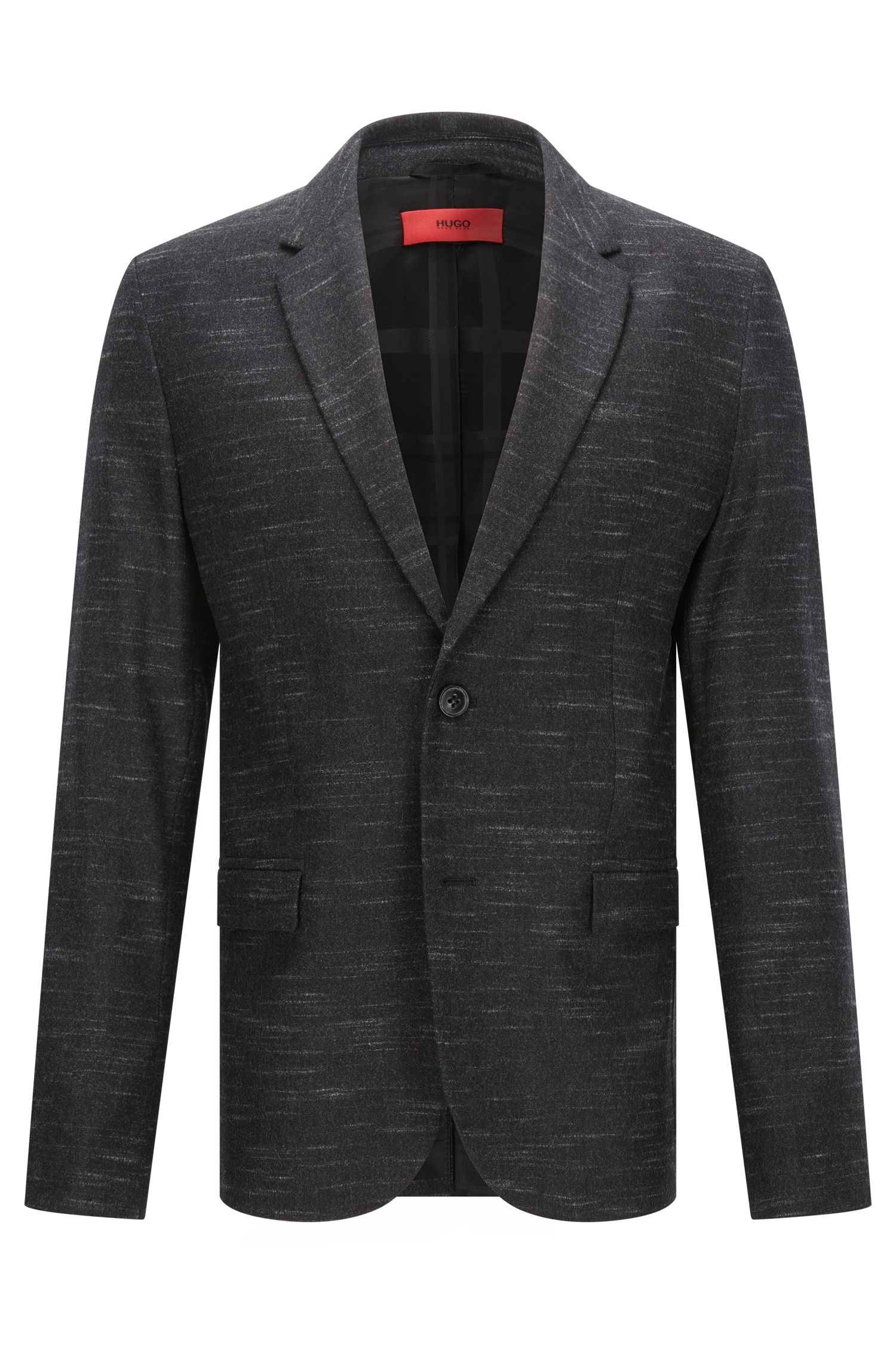 Heathered Virgin Wool Blend Sport Coat, Slim Fit | Arelton