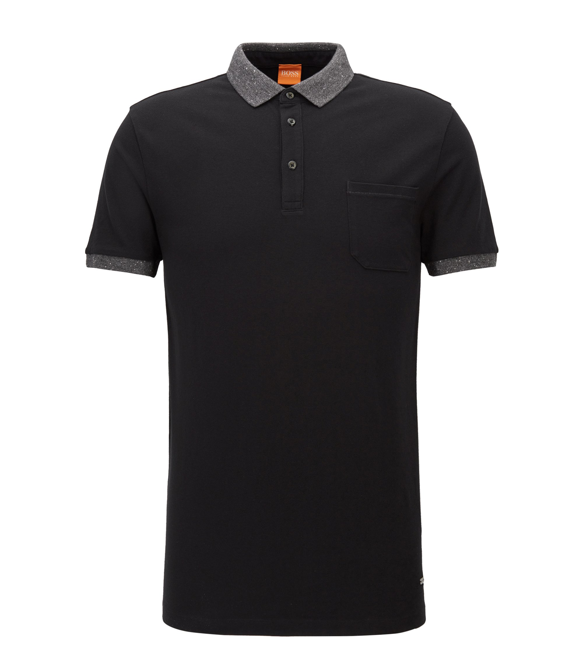 Regular Fit, Piqué Cotton Polo Shirt | Previously, Black