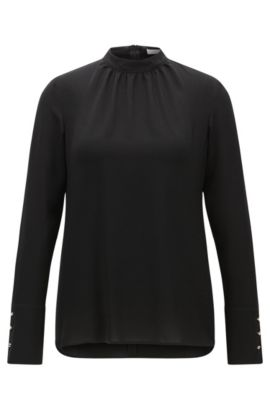 'Bajania' | Crepe Top, Black