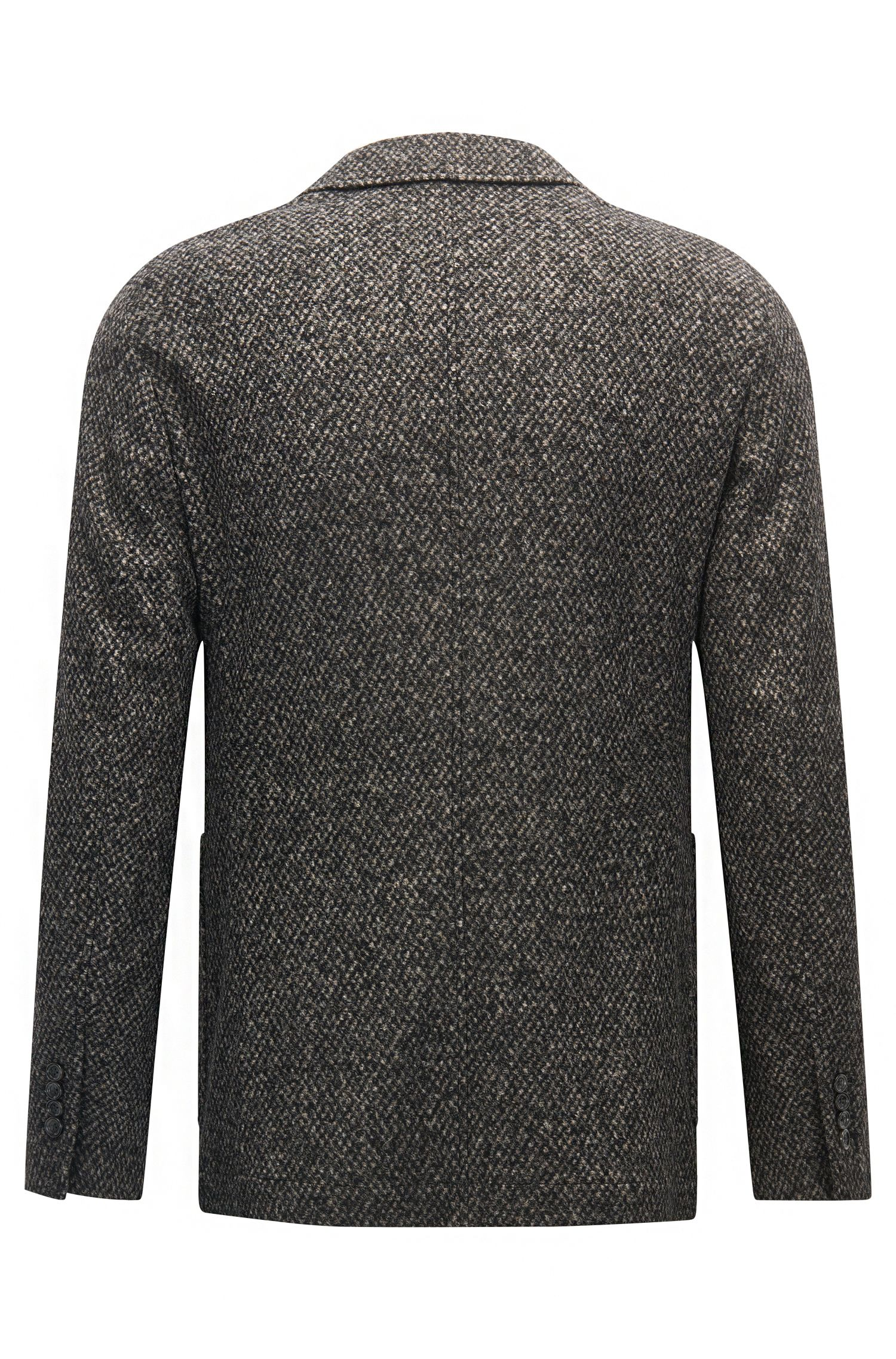 'T-Neldon' | Slim Fit, Tweed Sport Coat, Open Grey