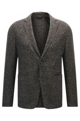 'T-Neldon' | Slim Fit, Tweed Sport Coat, Open Grey