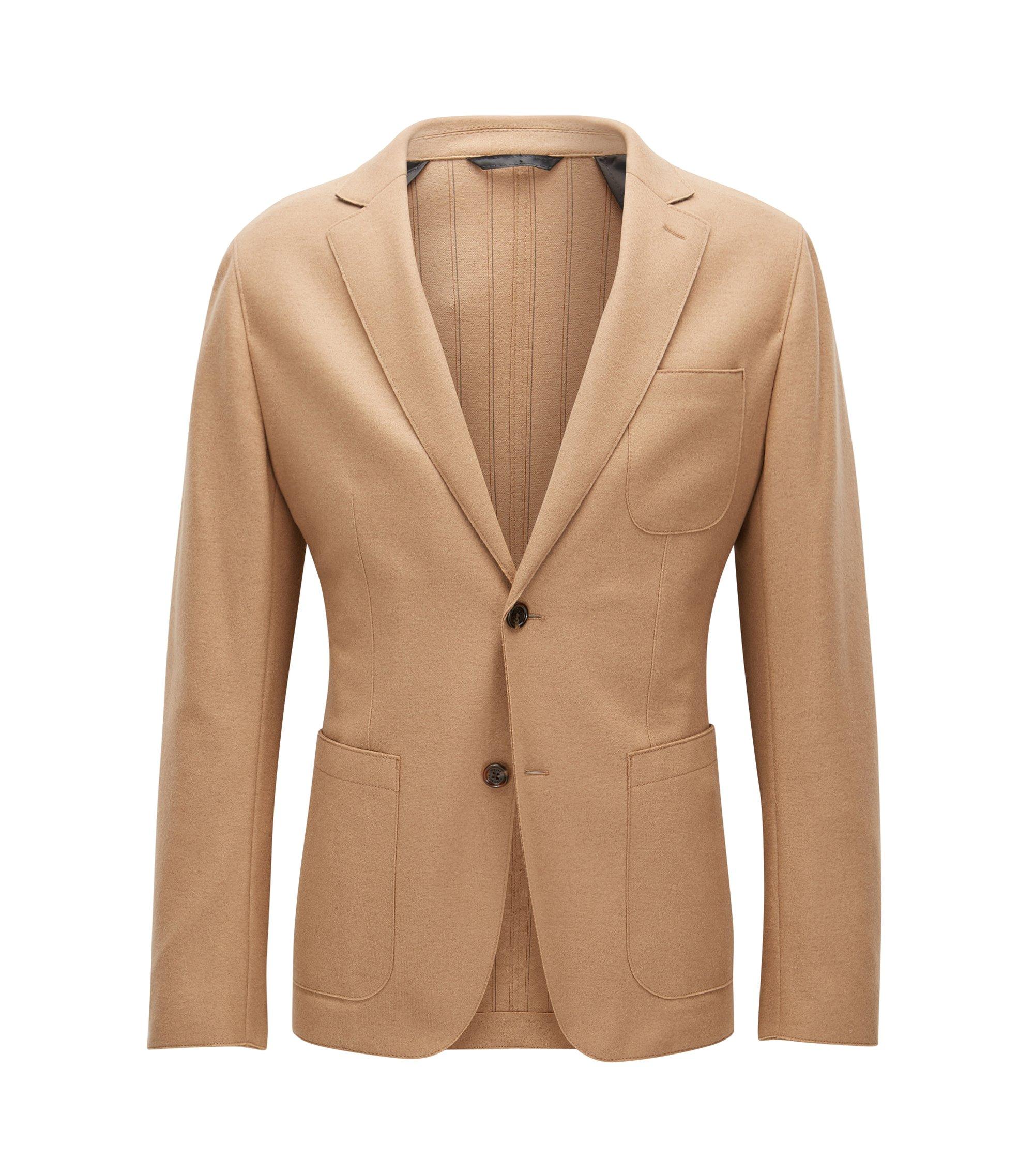 Virgin Wool Sport Coat, Slim Fit | Nordin, Beige