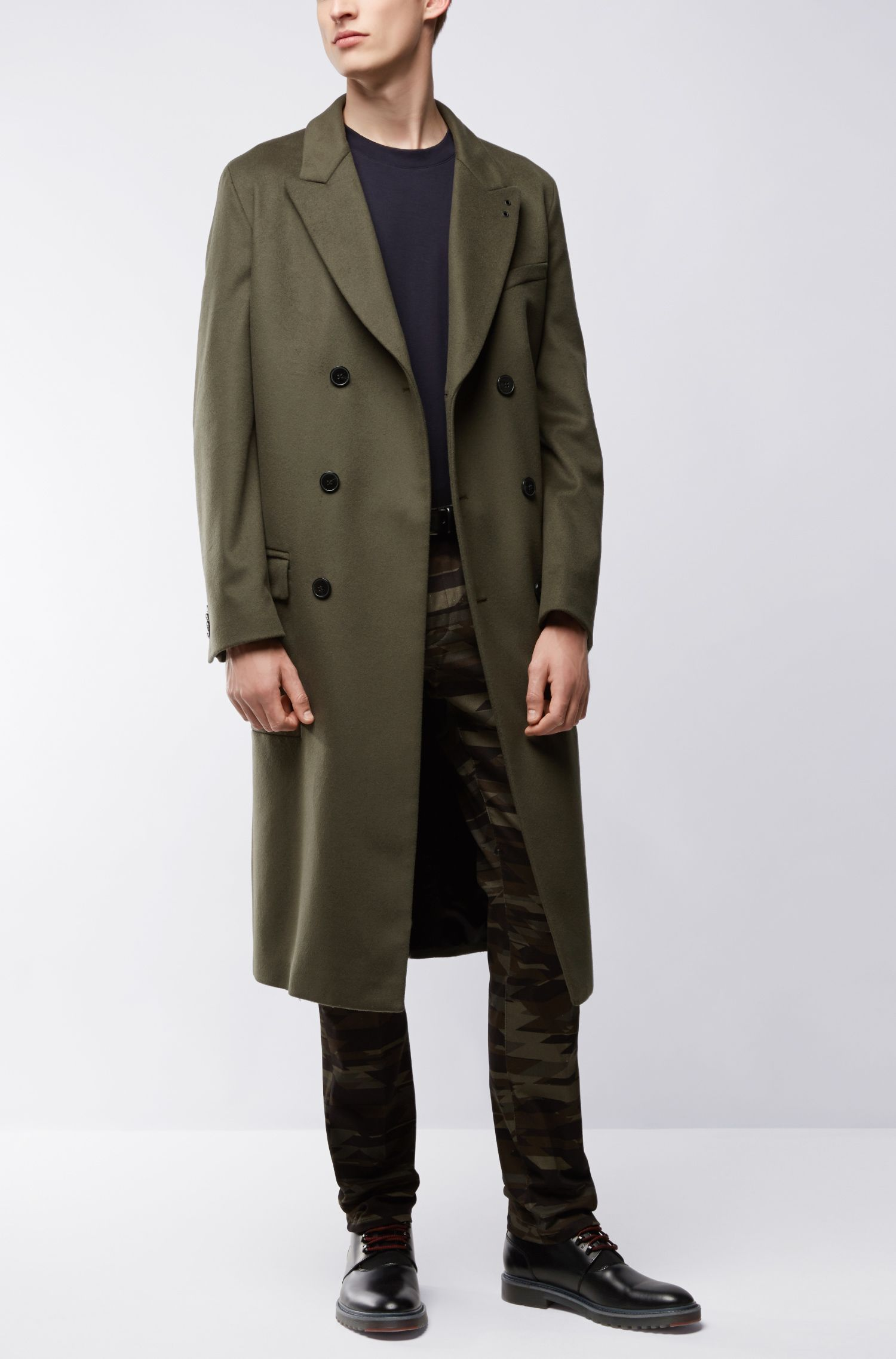 Double-Breasted Virgin Wool Cashmere Car Coat | Menlo