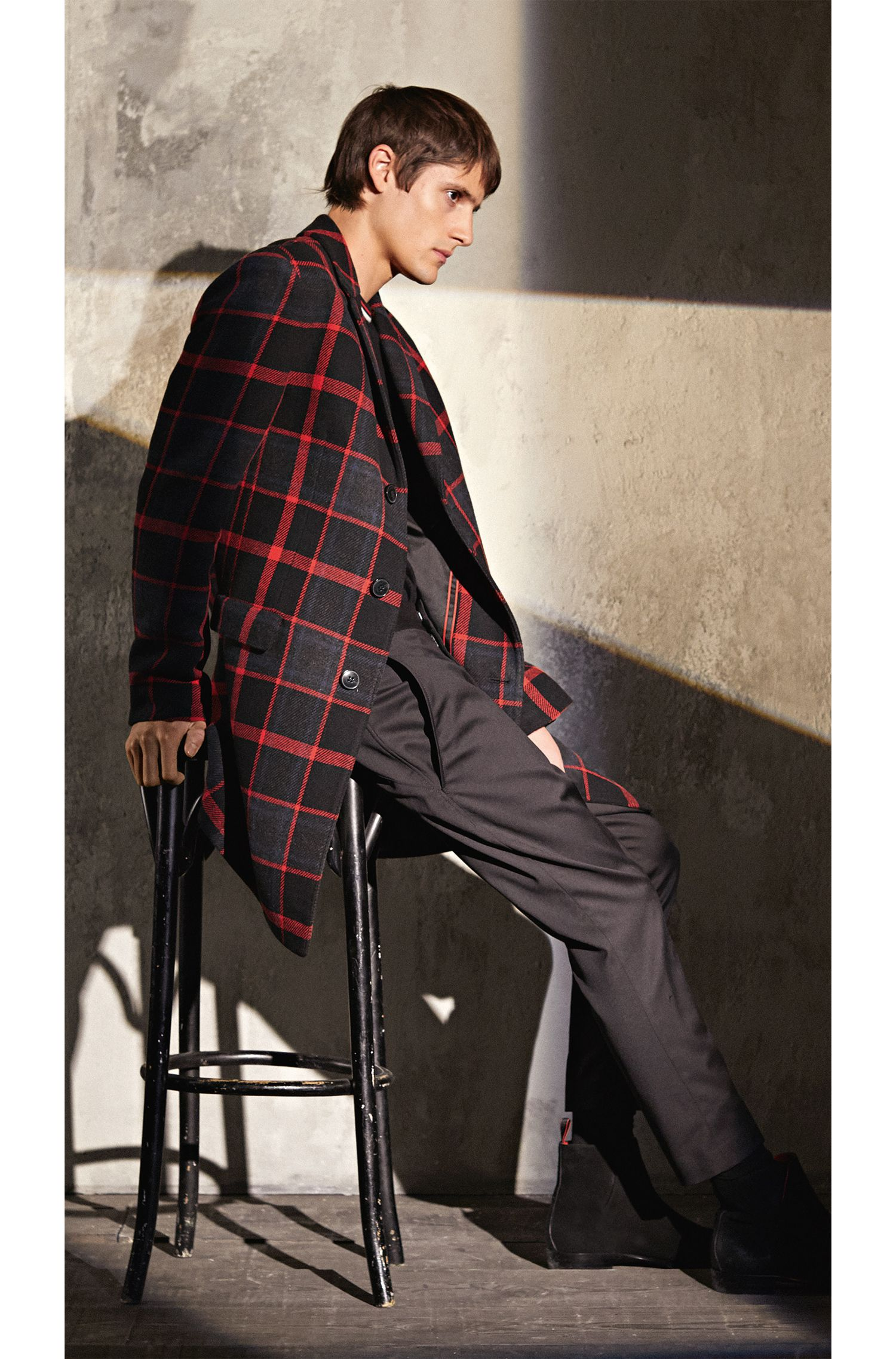 Plaid Coat | Miigor, Patterned