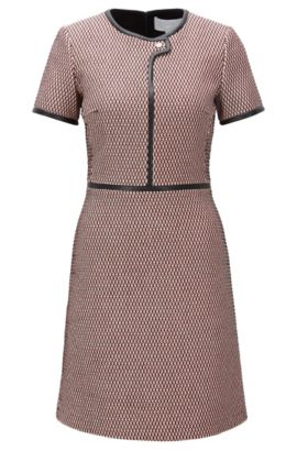 'Dagardi' | Dobby-Knit Cotton Blend Dress, Patterned