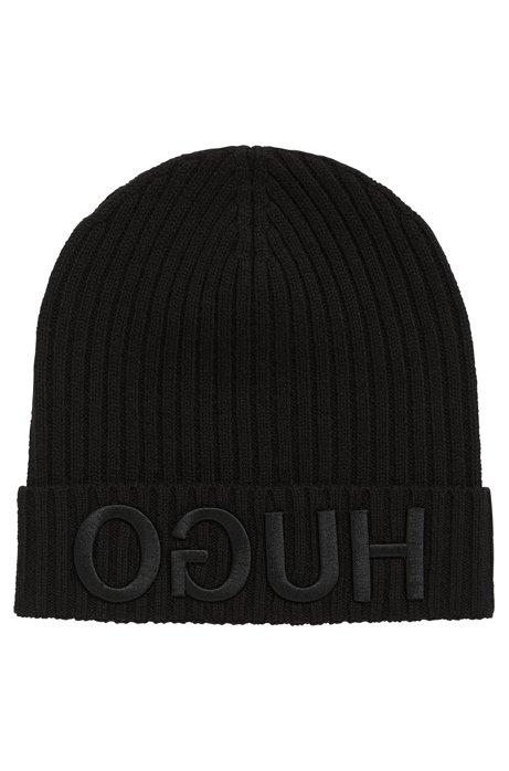43072e78361 HUGO - Logo Wool Beanie