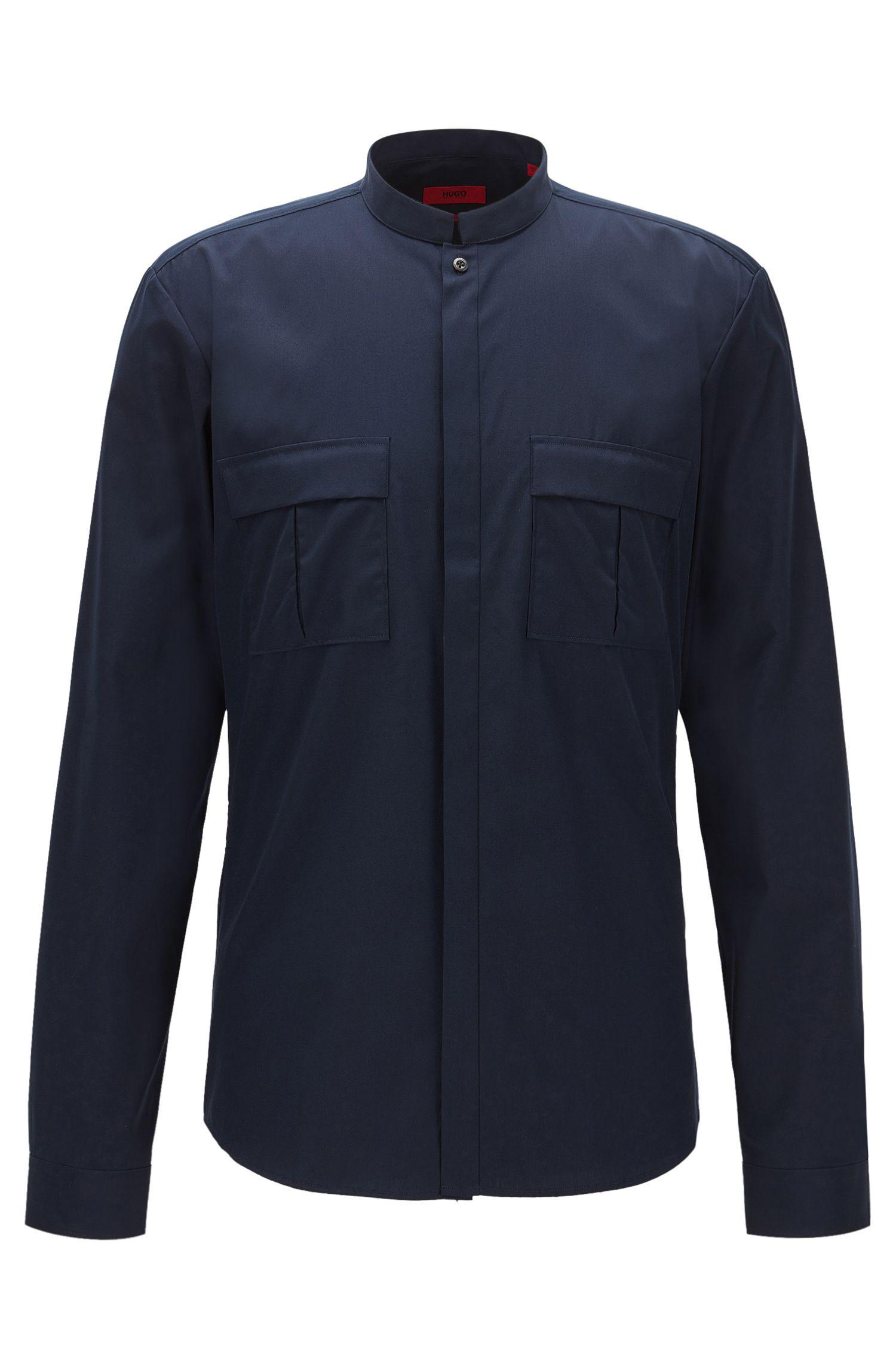 Poplin Cotton Button Down Shirt, Extra Slim Fit | Emesh