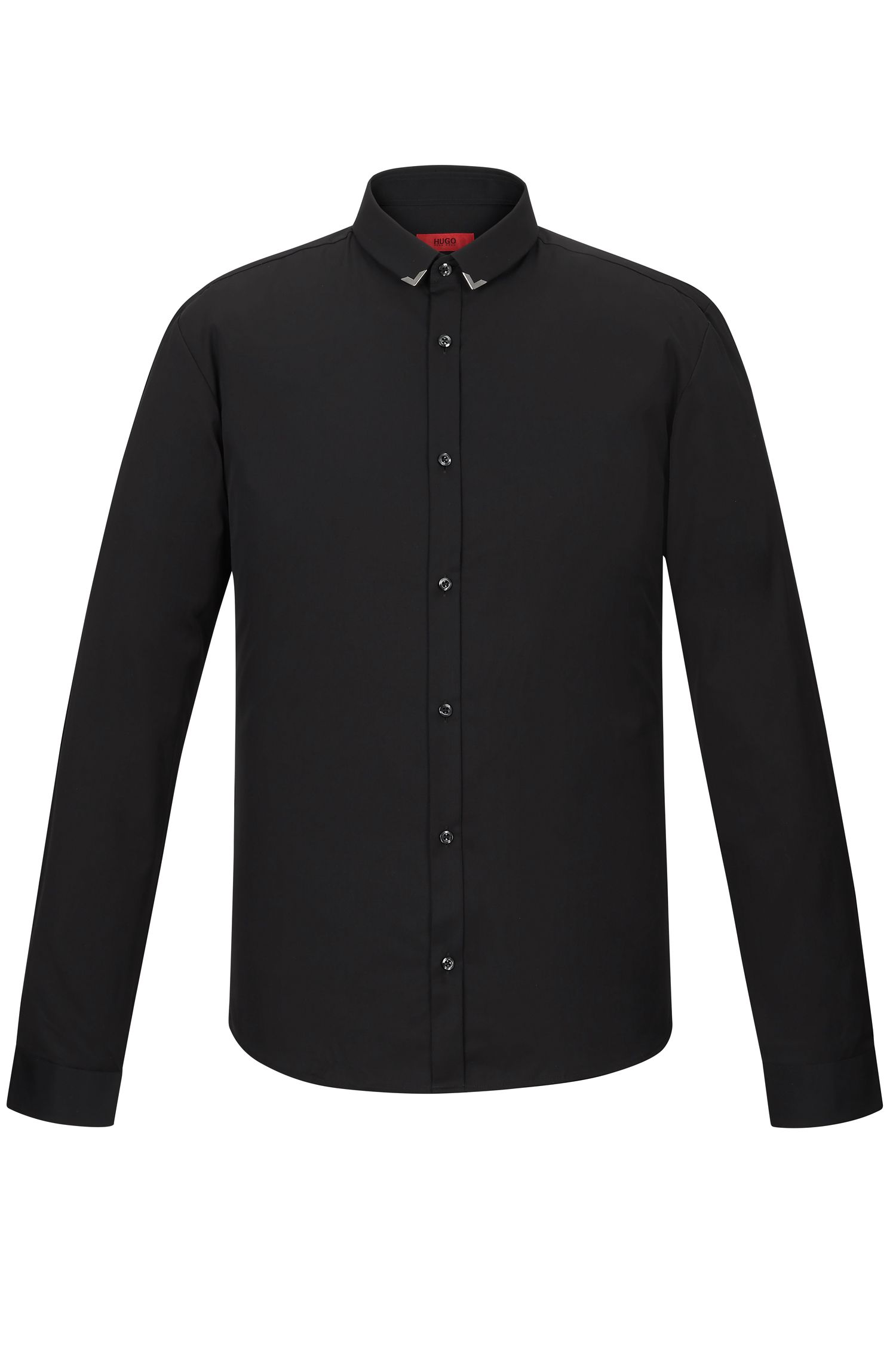 Cotton Poplin Button Down Shirt, Extra Slim Fit | Ero