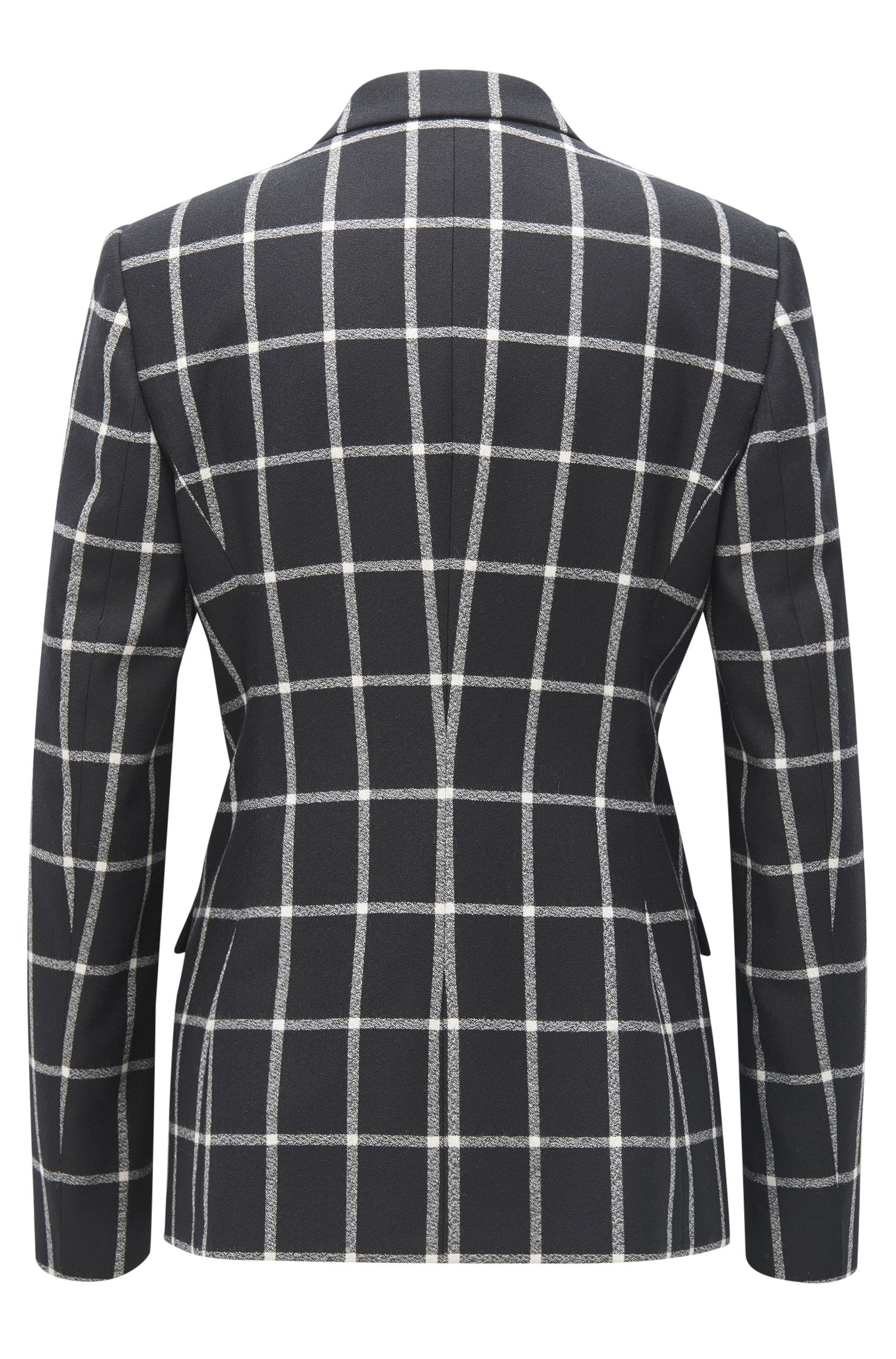 Windowpane Virgin Wool Blazer | Jerima