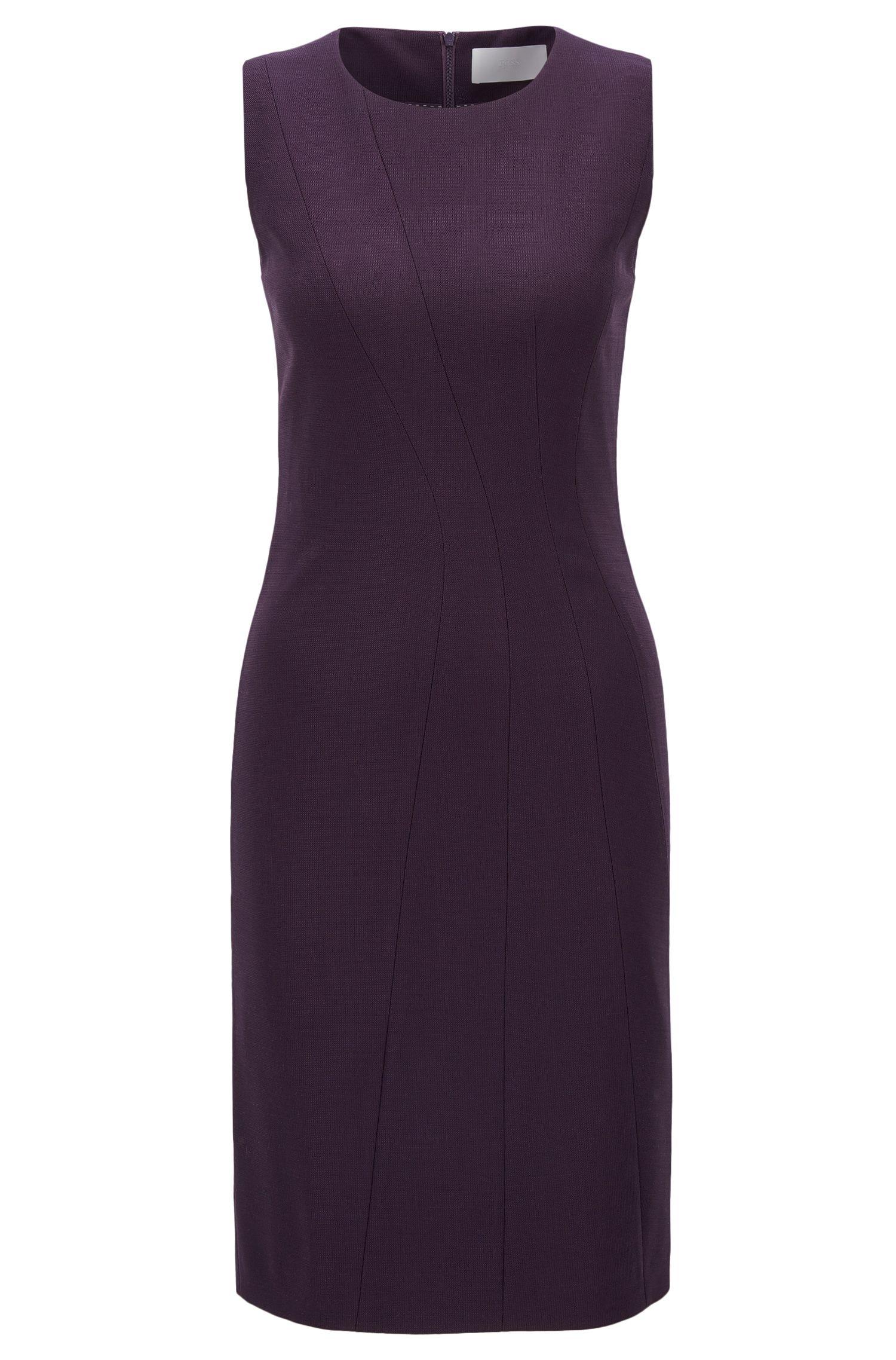 'Donalea'   Stretch Virgin Wool Sheath Dress