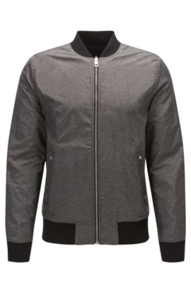 Reversible Bomber Jacket | Ztraight, Charcoal