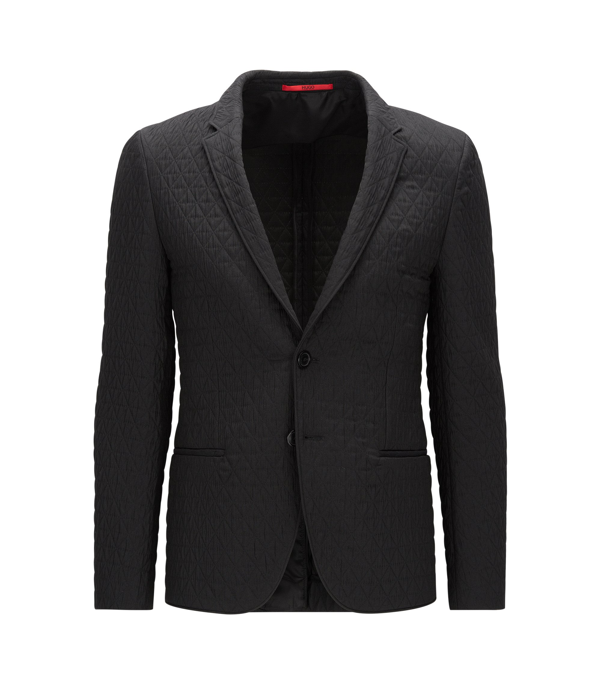 Italian Quilted Sport Coat, Extra Slim Fit | Arnod, Black
