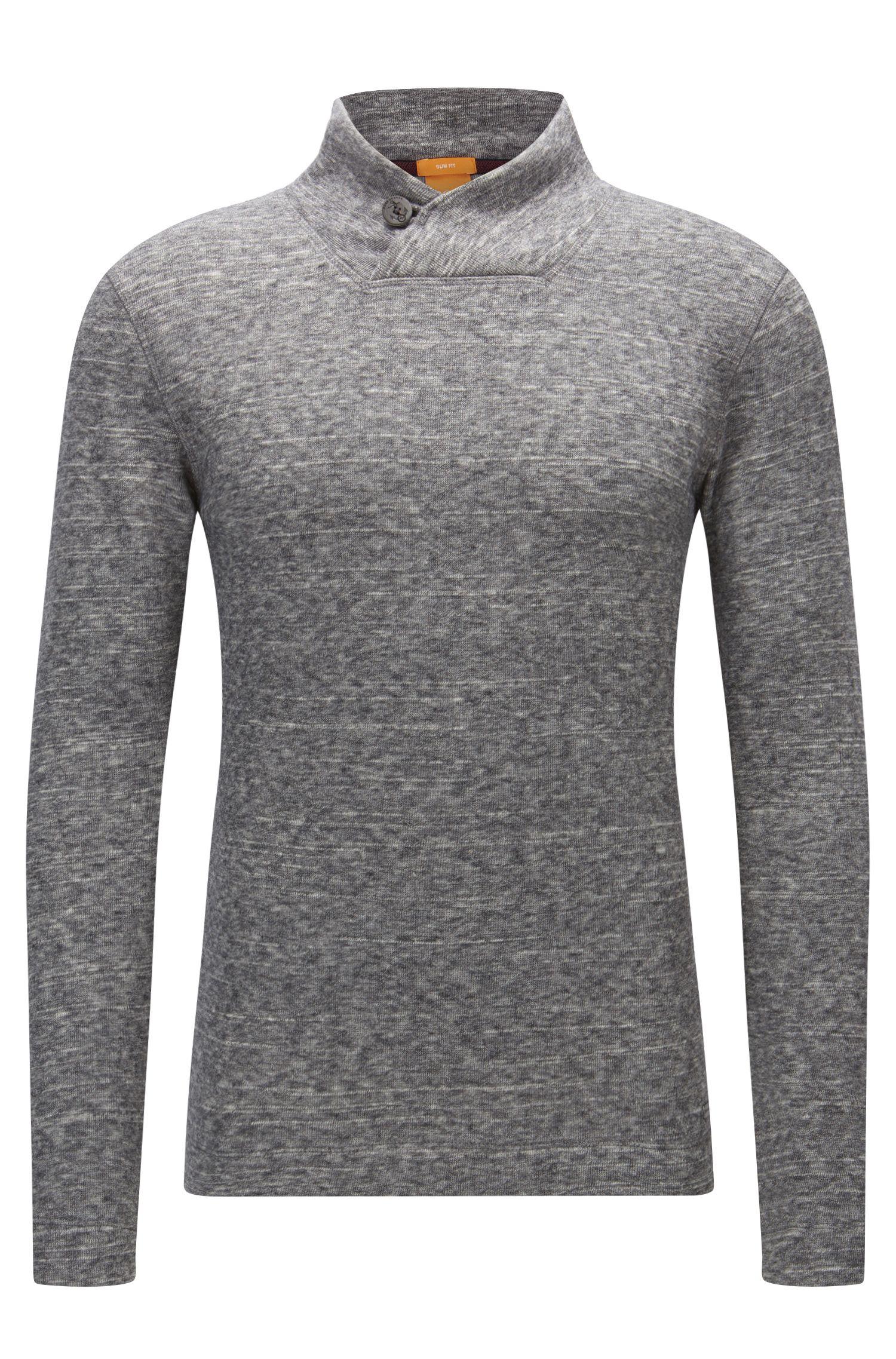 'Woolish' | Heathered Cotton Wool Jersey Sweater