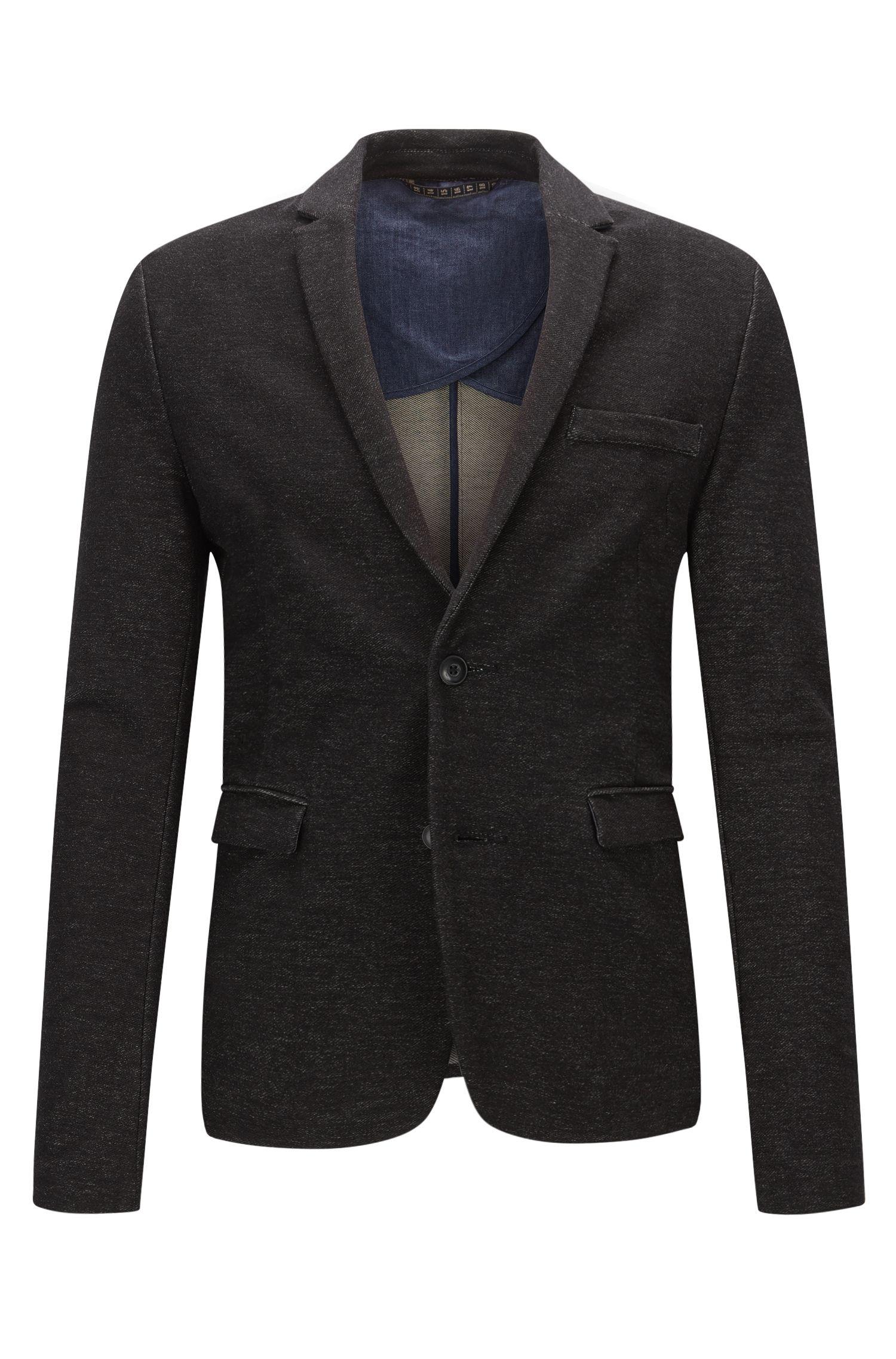 Stretch Cotton Sport Coat, Slim Fit   Wicc