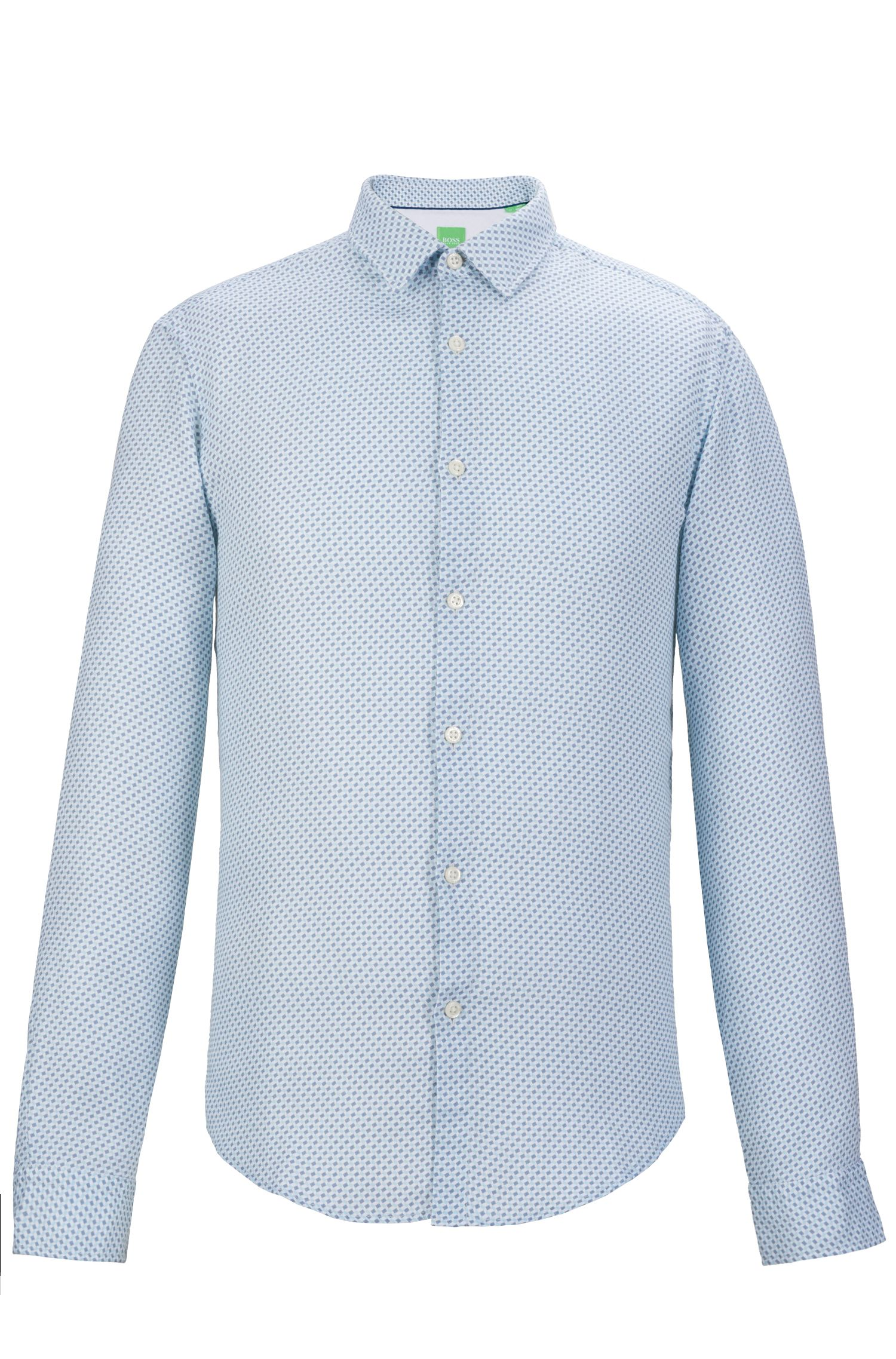Cotton Button Down Shirt, Slim Fit | C-Bersh S